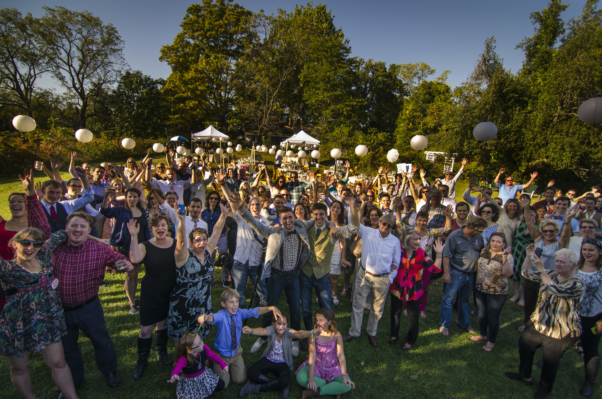 2014 wedding on the Bowling Green, taken from the outdoor stage. The Bowling Green can accommodate up to 400 guests.