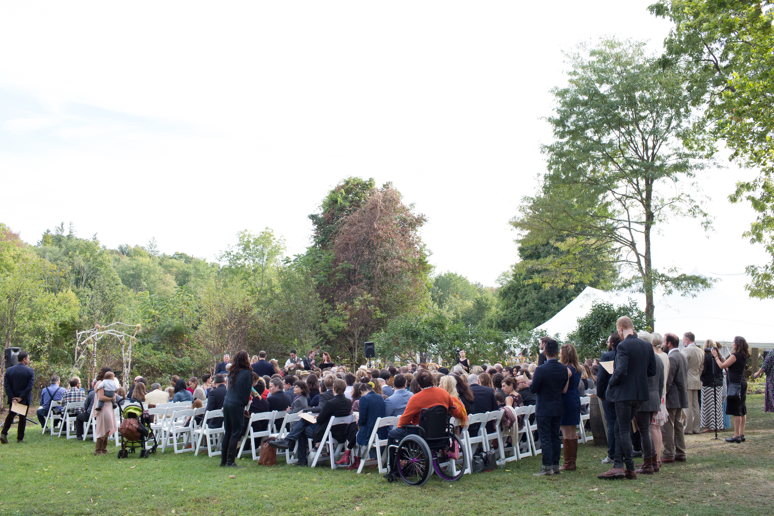 There are many locations on the farm to choose from for your ceremony, with a variety of seating options.