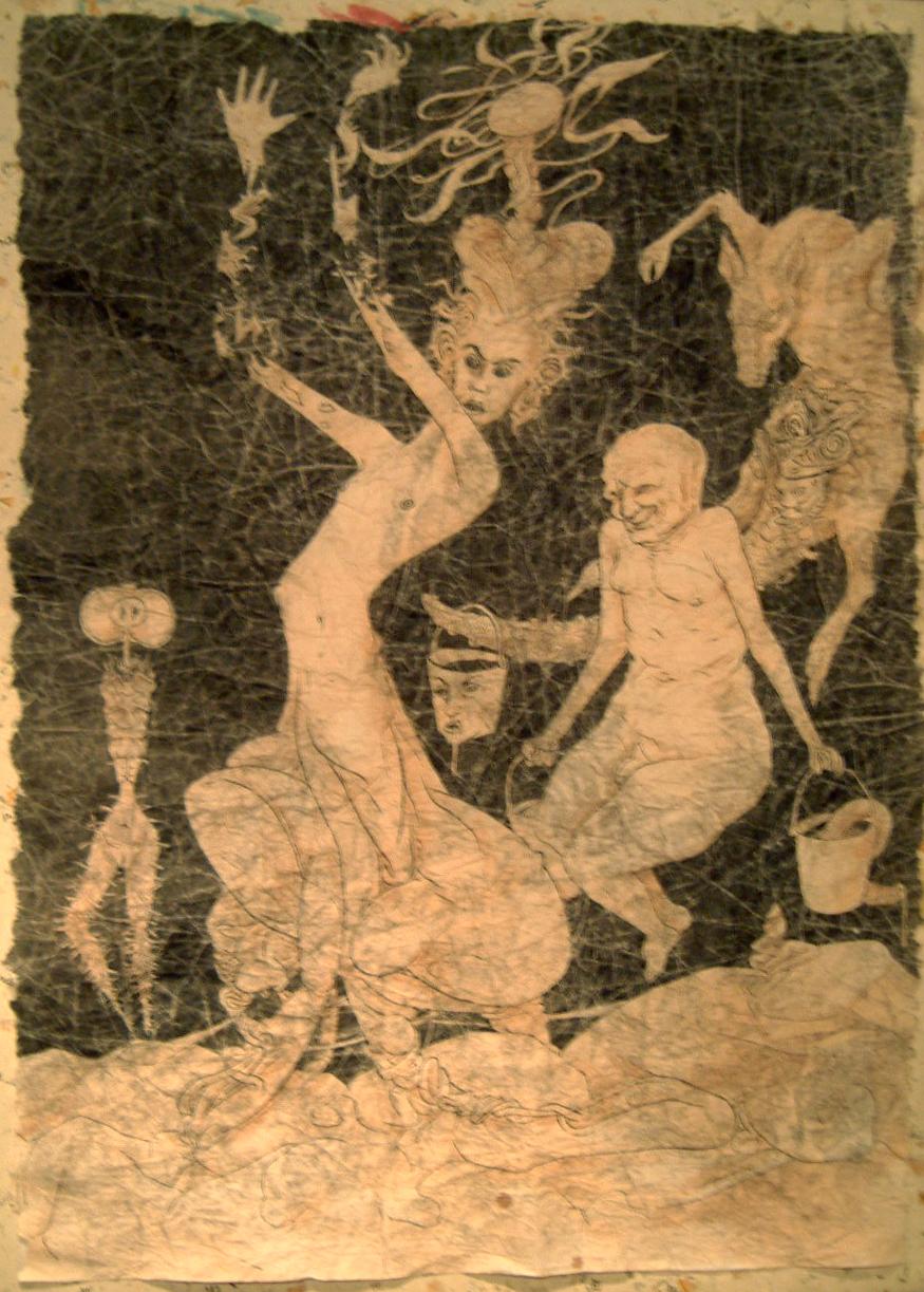 Niklas Nenzén Crumpled Paper Drawing