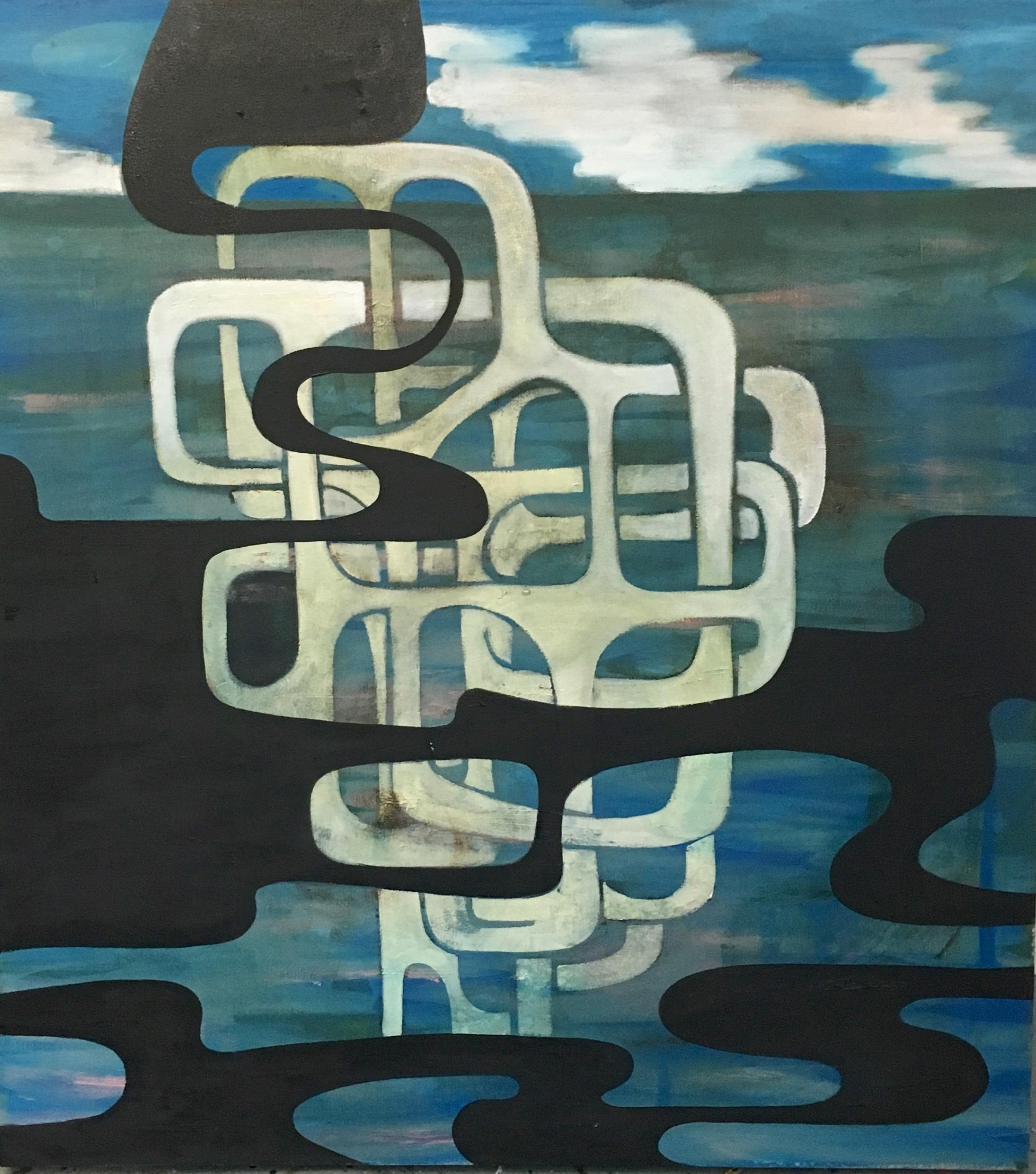 "Soul (or Spirit)  42 x 38"" oil on canvas"