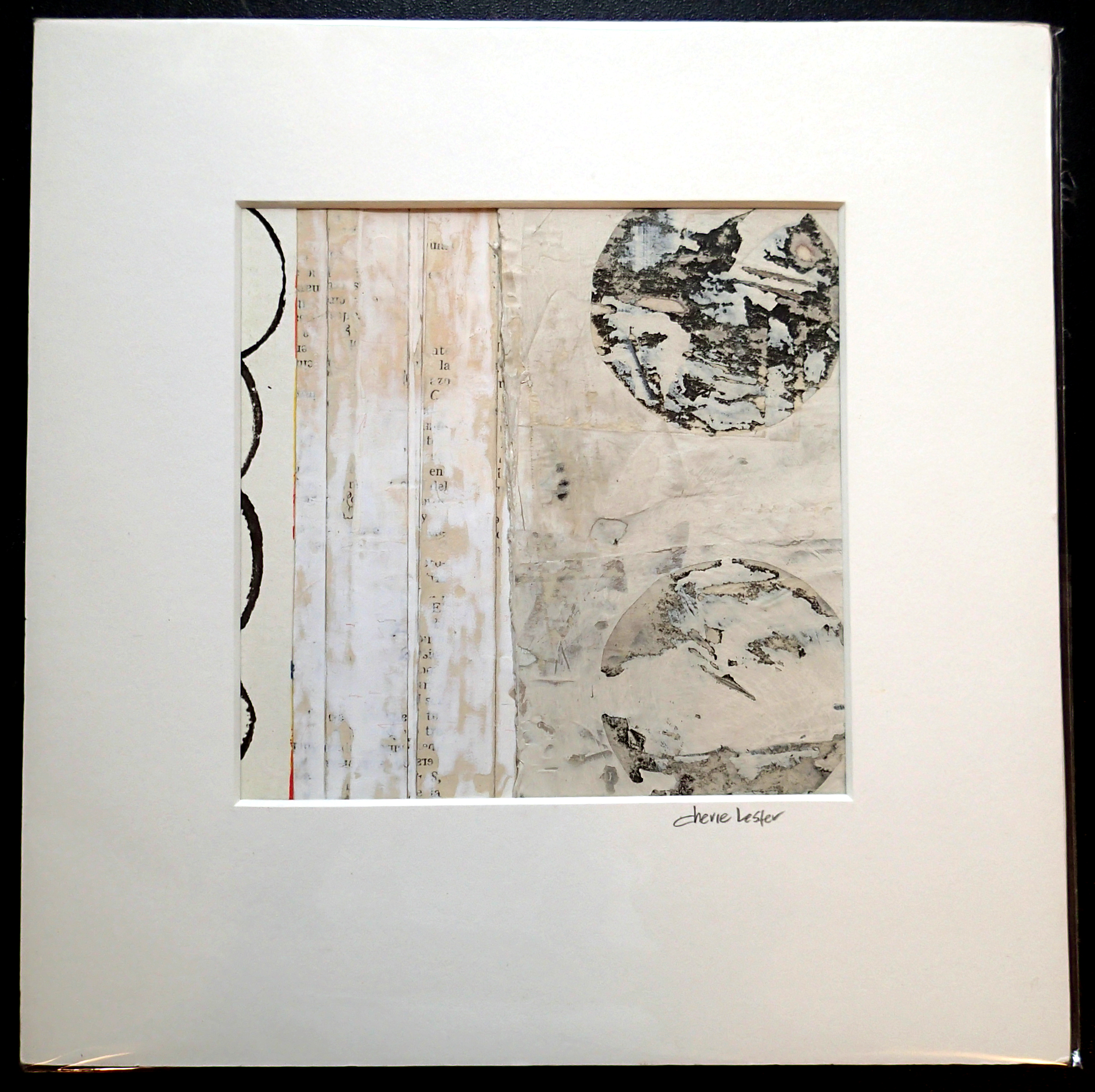 """SOLD 10"""" x 10"""" mixed media painting/work-on-paper. acid-free matting. ready for framing."""