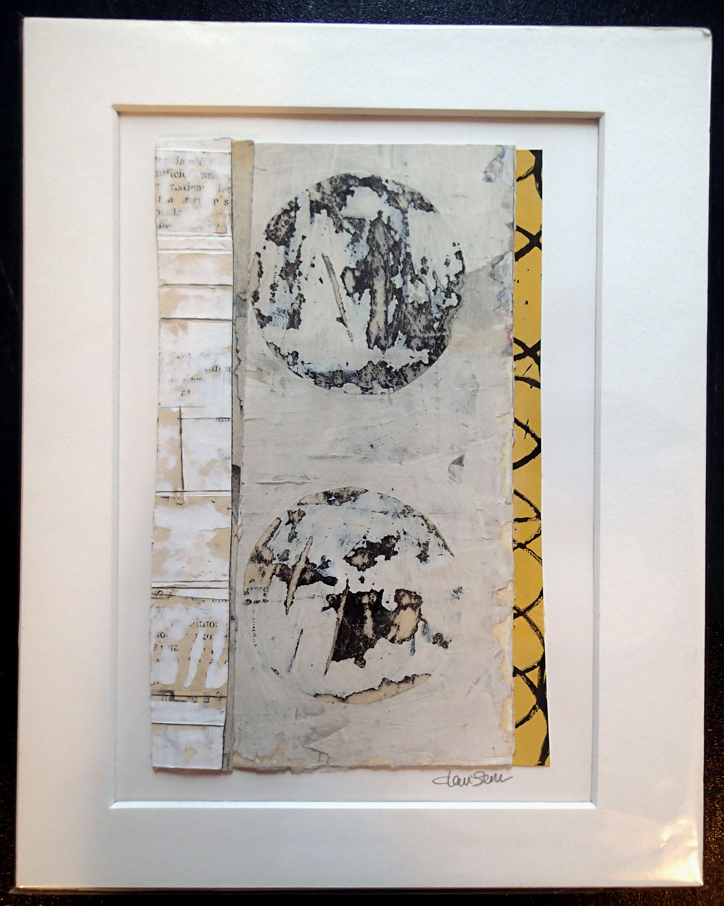 """SOLD 8"""" x 10"""" mixed media painting/work-on-paper. acid-free matting. ready for framing."""