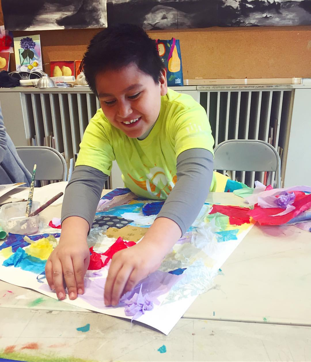 Abstract Art Class with CentroNia & Capitol Hill Arts Workshop 2017