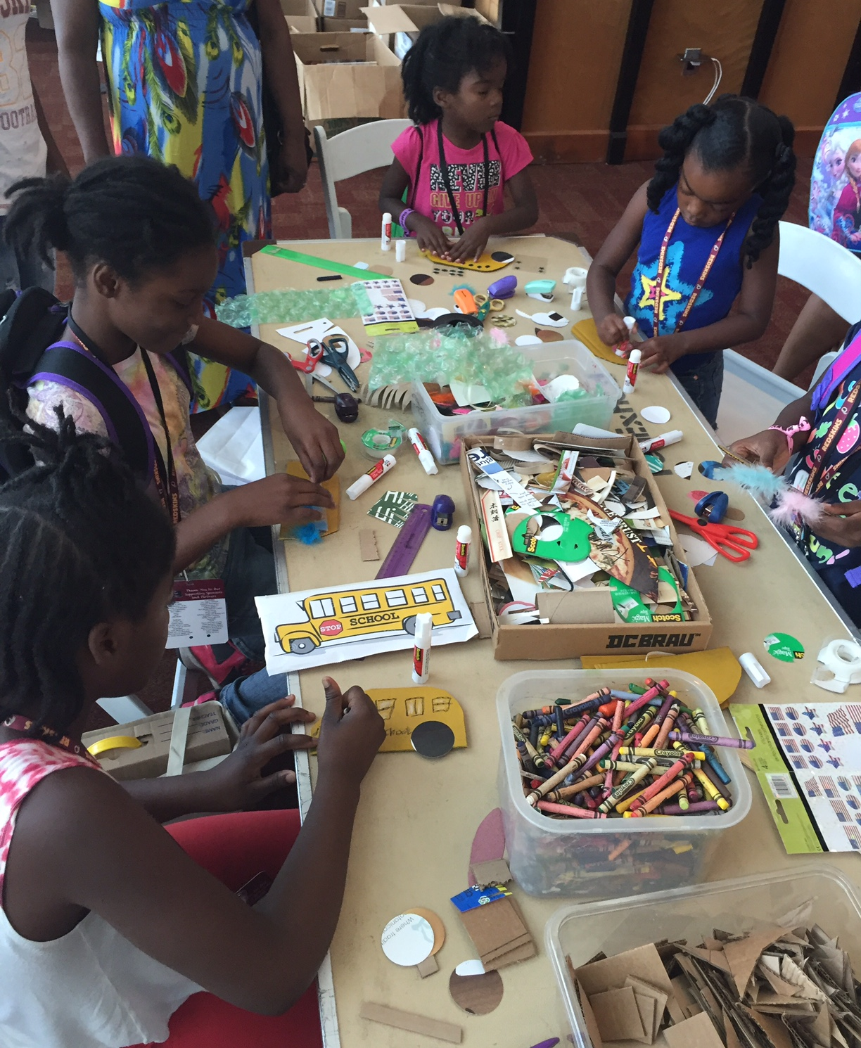 Redskins 'Back to School' Community Crafting at FedEx Field Aug, 2016