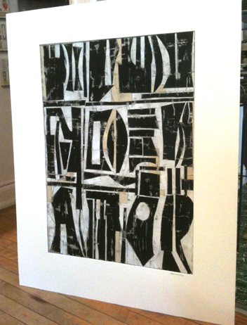 SOLD  Cut paper collage/abstract painting