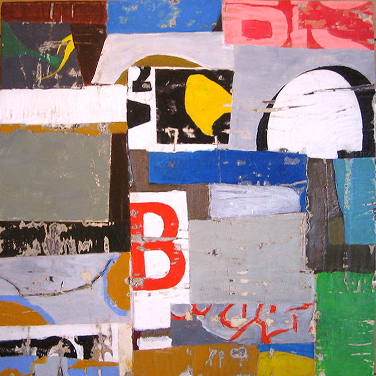 """AVAILABLE 12""""x12"""" Mixed media collage on hardwood cradle."""