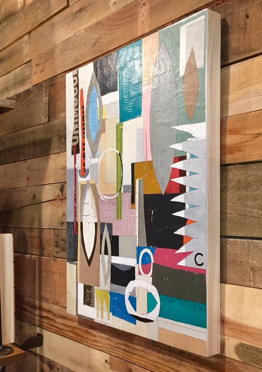 SOLD 18 X 24 Mixed Media Painting on Cradled Hardwood. 2017.