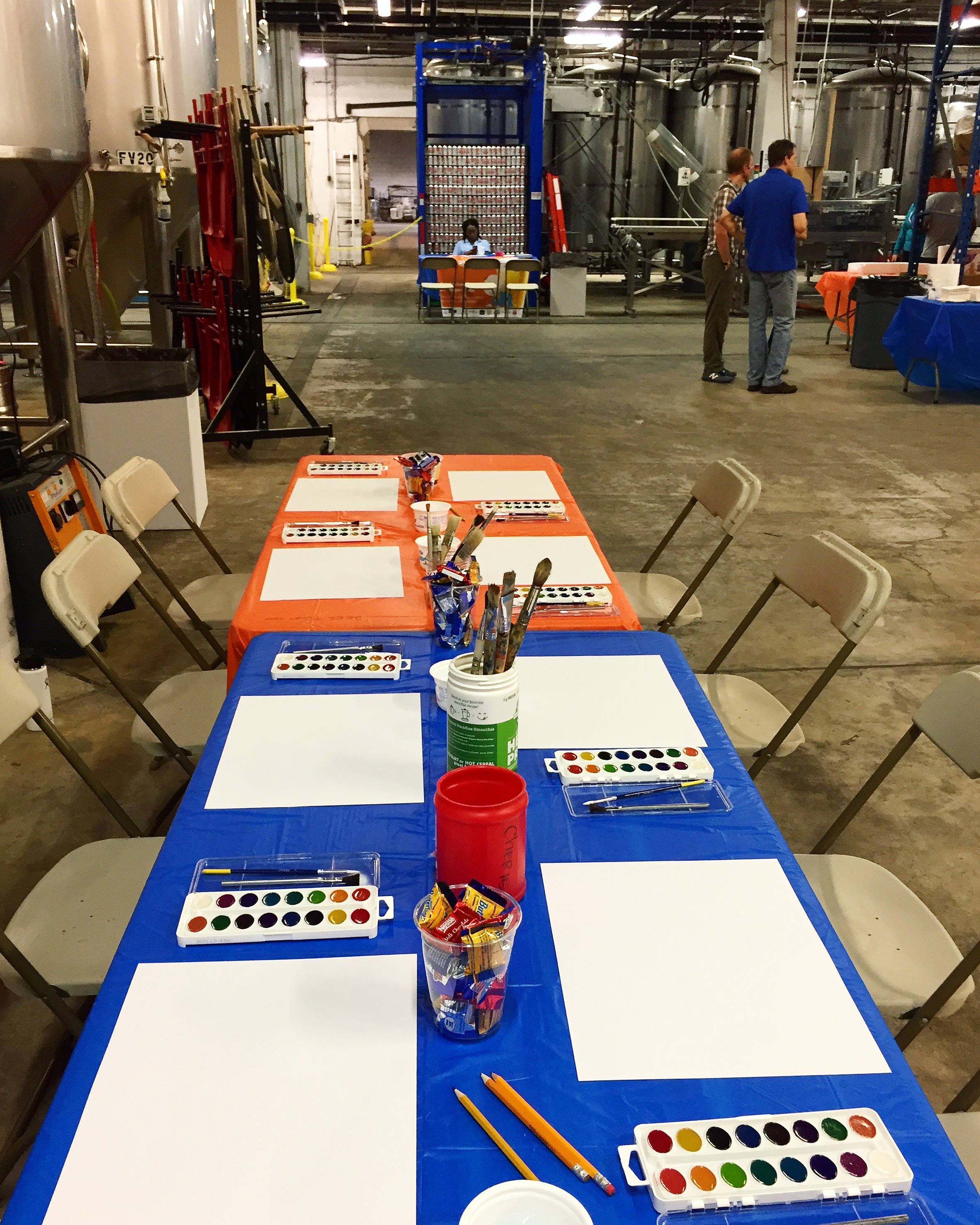 Watercolor Class for the Kids at DC Brau Brewery 2017