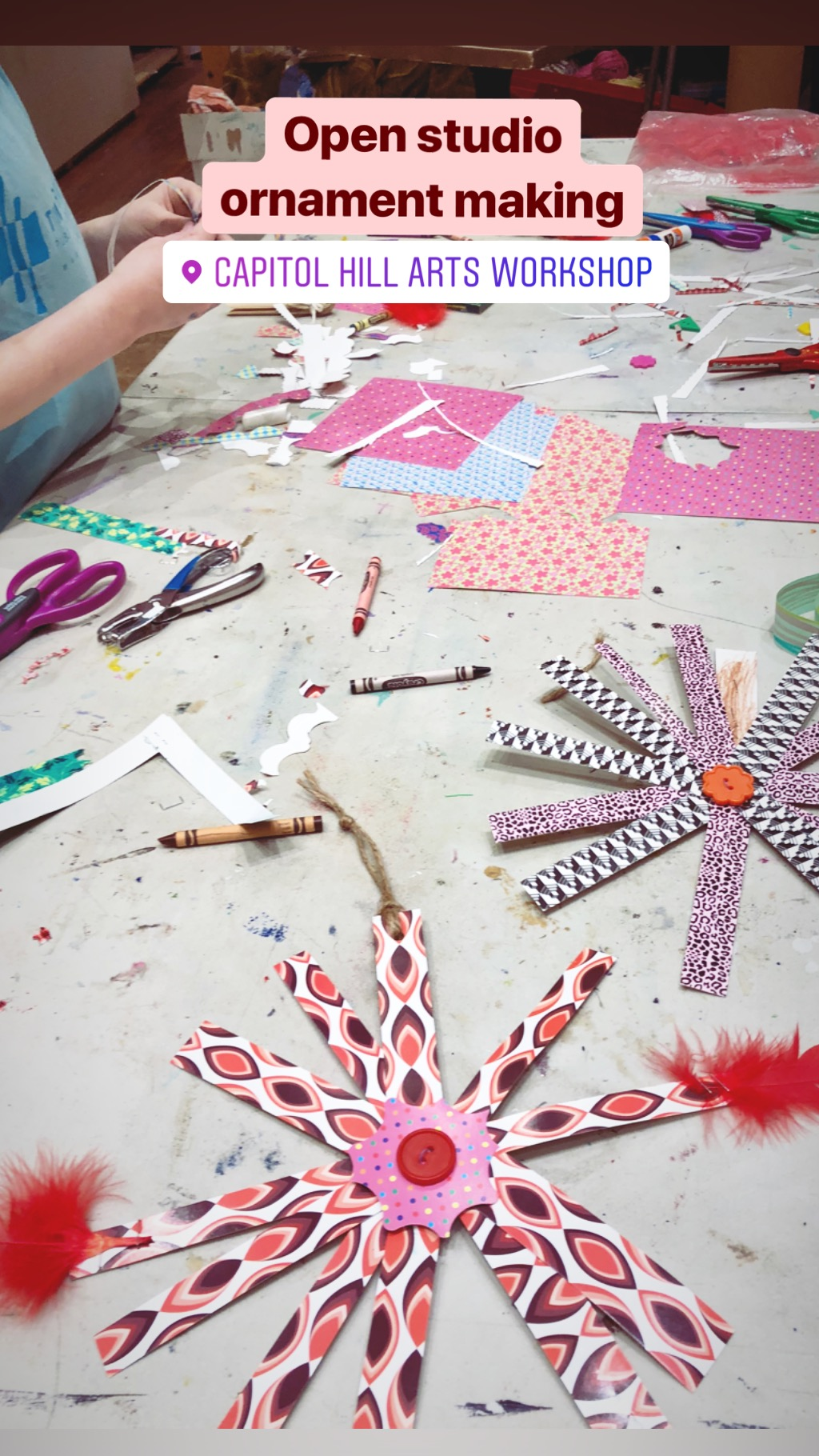 Holiday Crafts at Capitol Hill Arts Workshop, Dec 2018