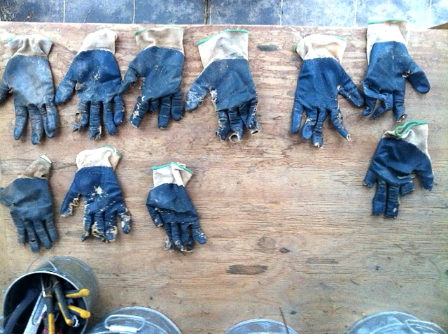 I kept pulling gloves out of the bin as I searched for a lefty. Two-to-One. What happened? :)