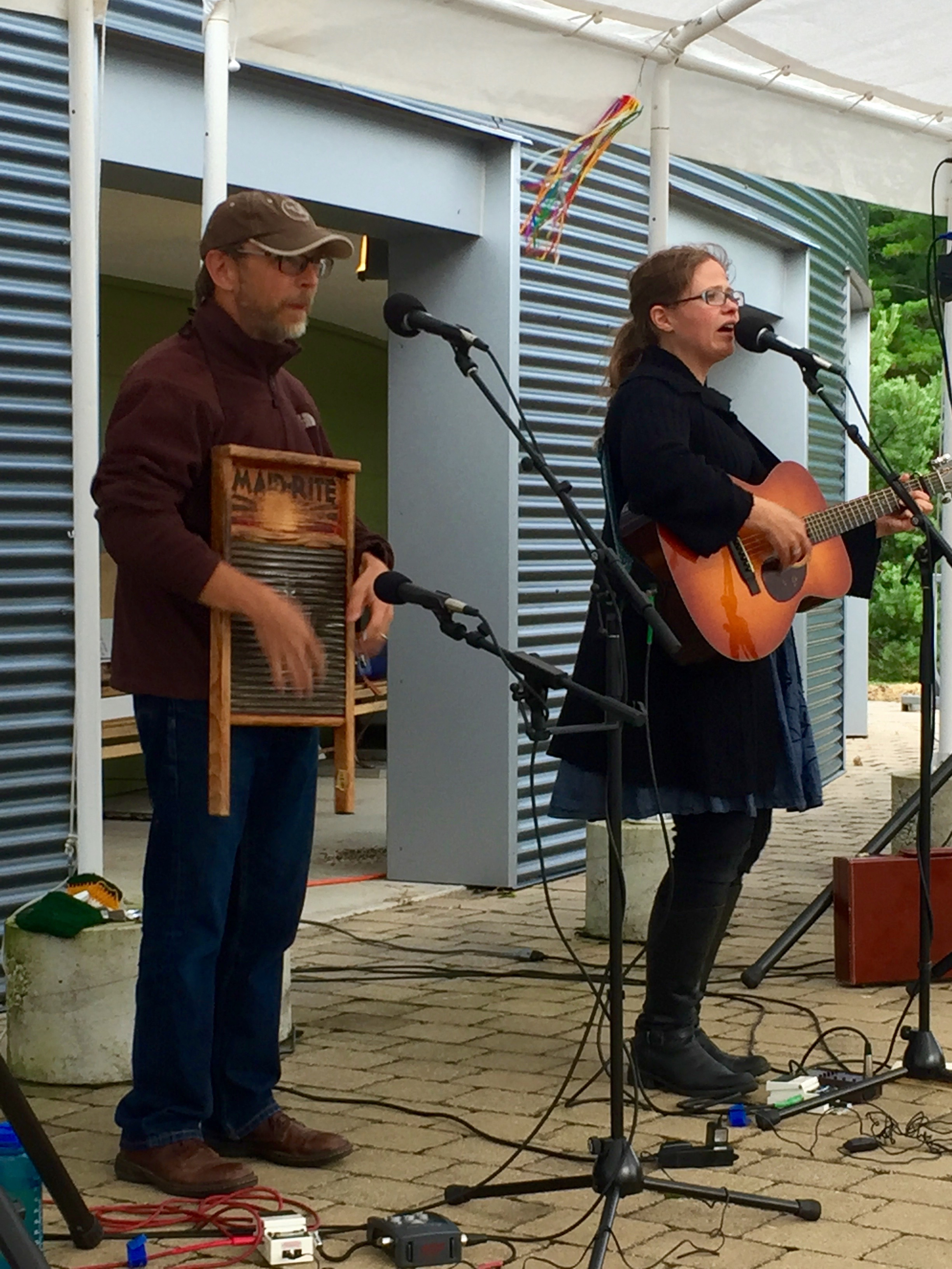 Rich Higdon and Katie Dahl playing for TPAC on the Green