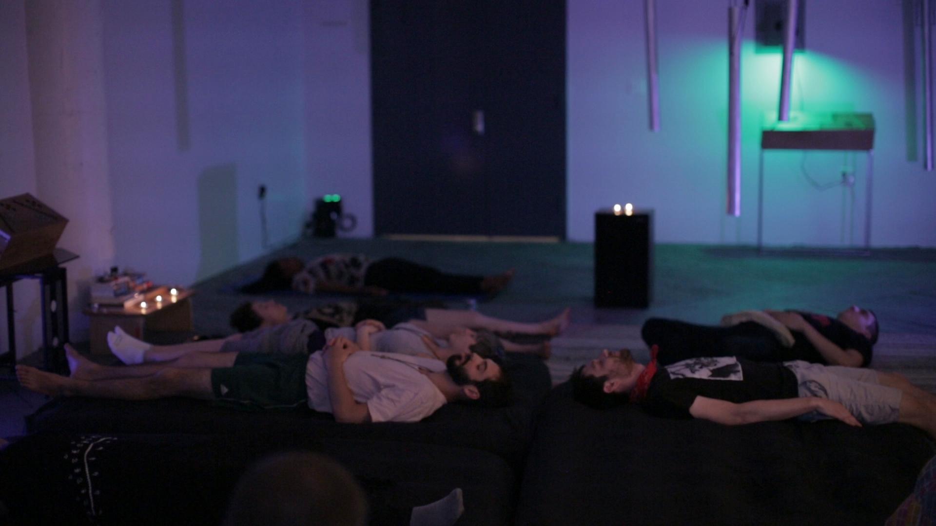 A group soundbath at our studio