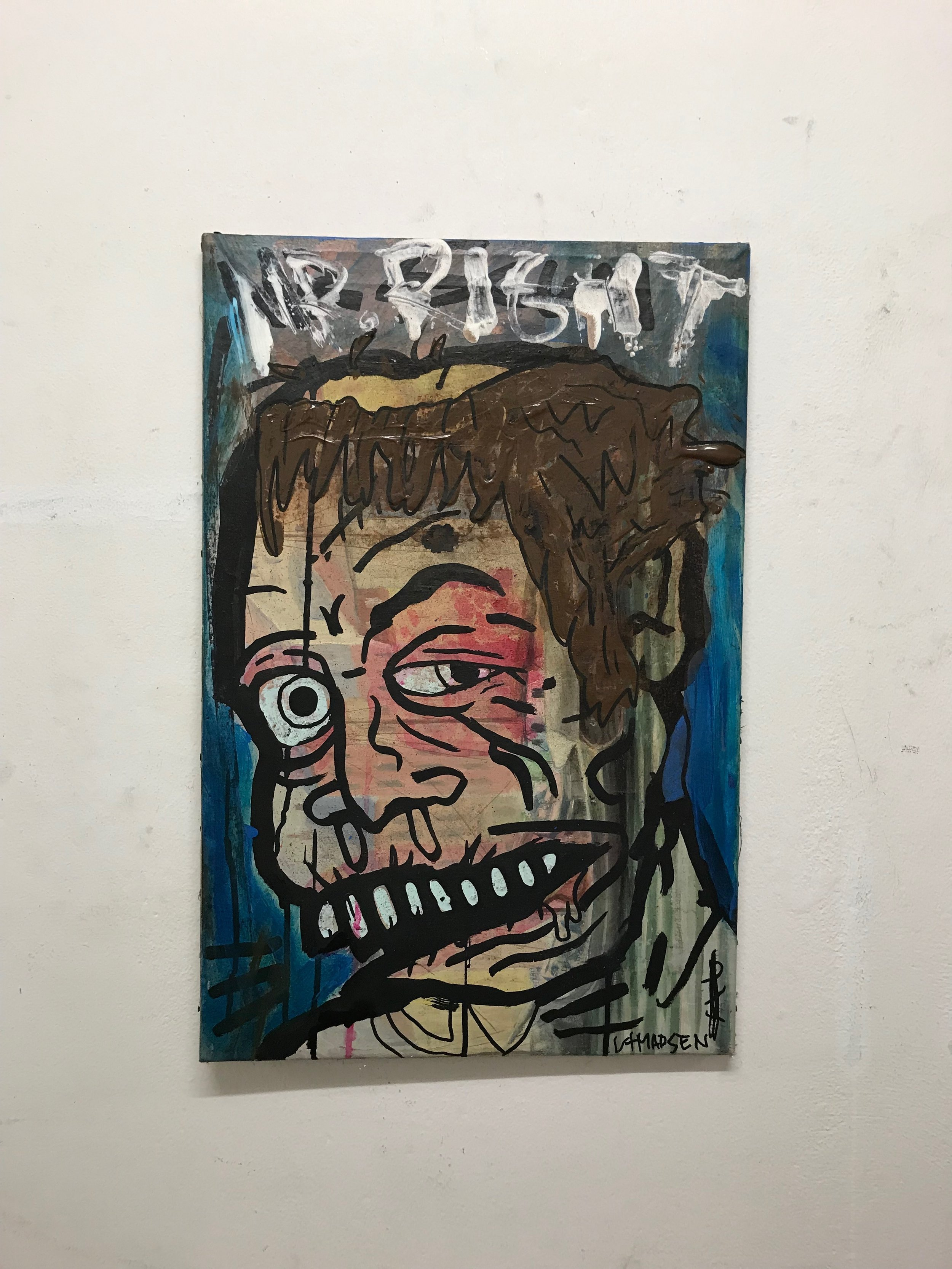 MR. Right 44 x 66 cm mixed media