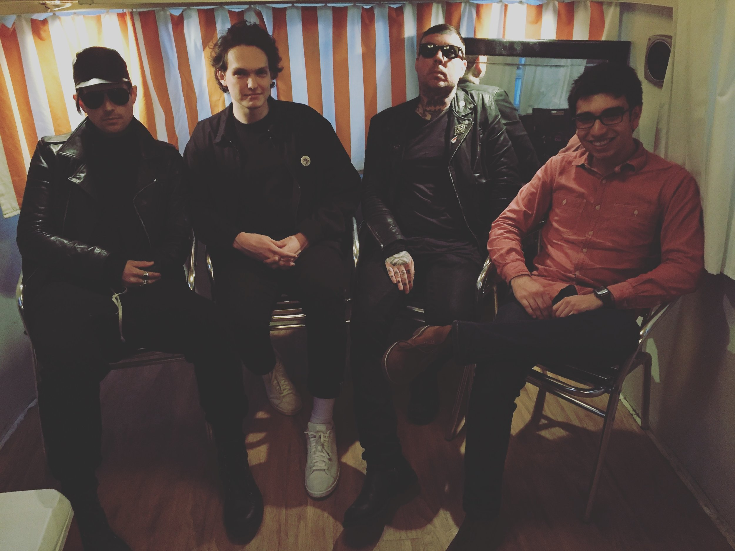 Cold Cave with KRTU staff backstage