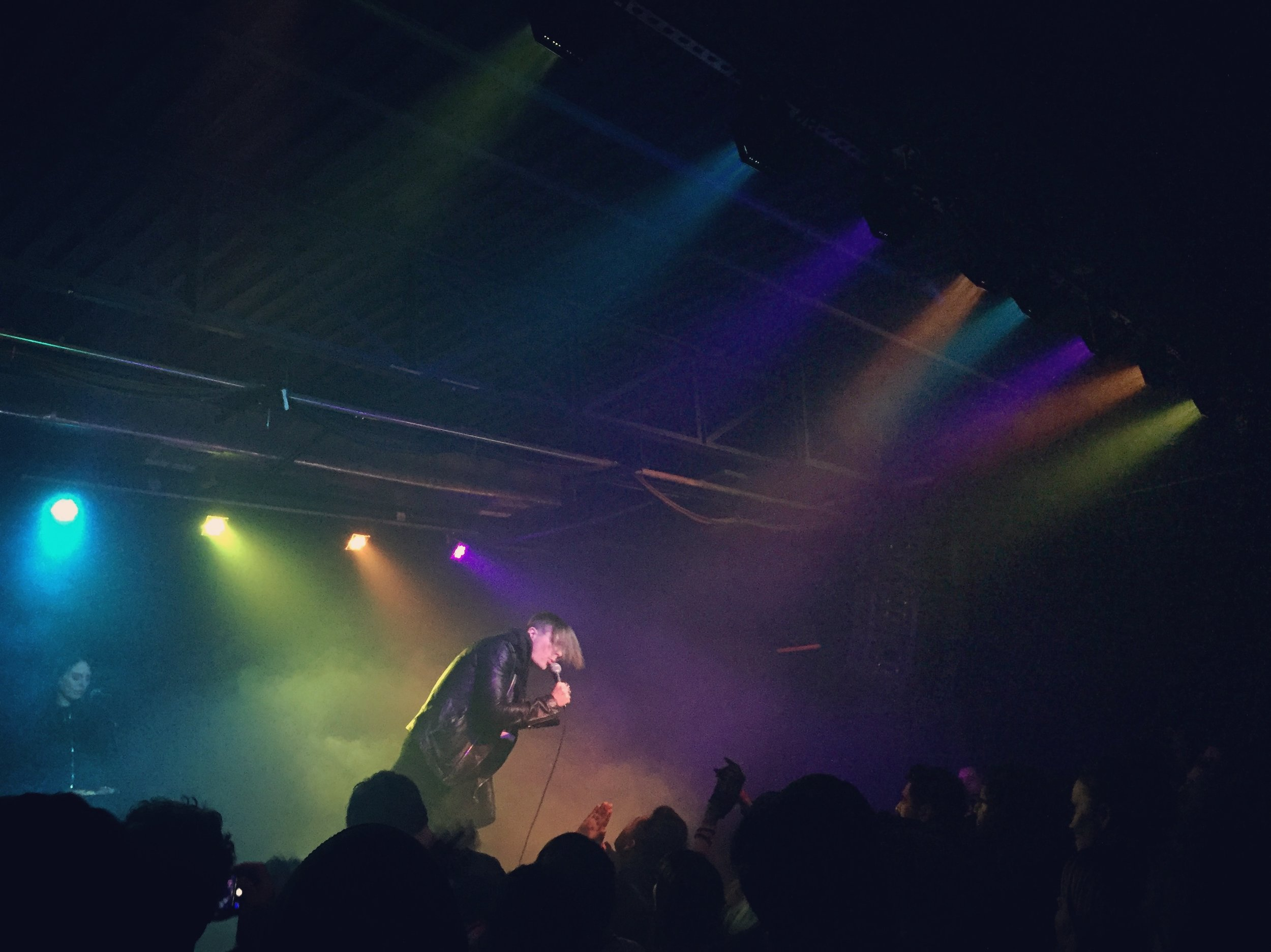 "Cold Cave sings ""Confetti"" at Paper Tiger"
