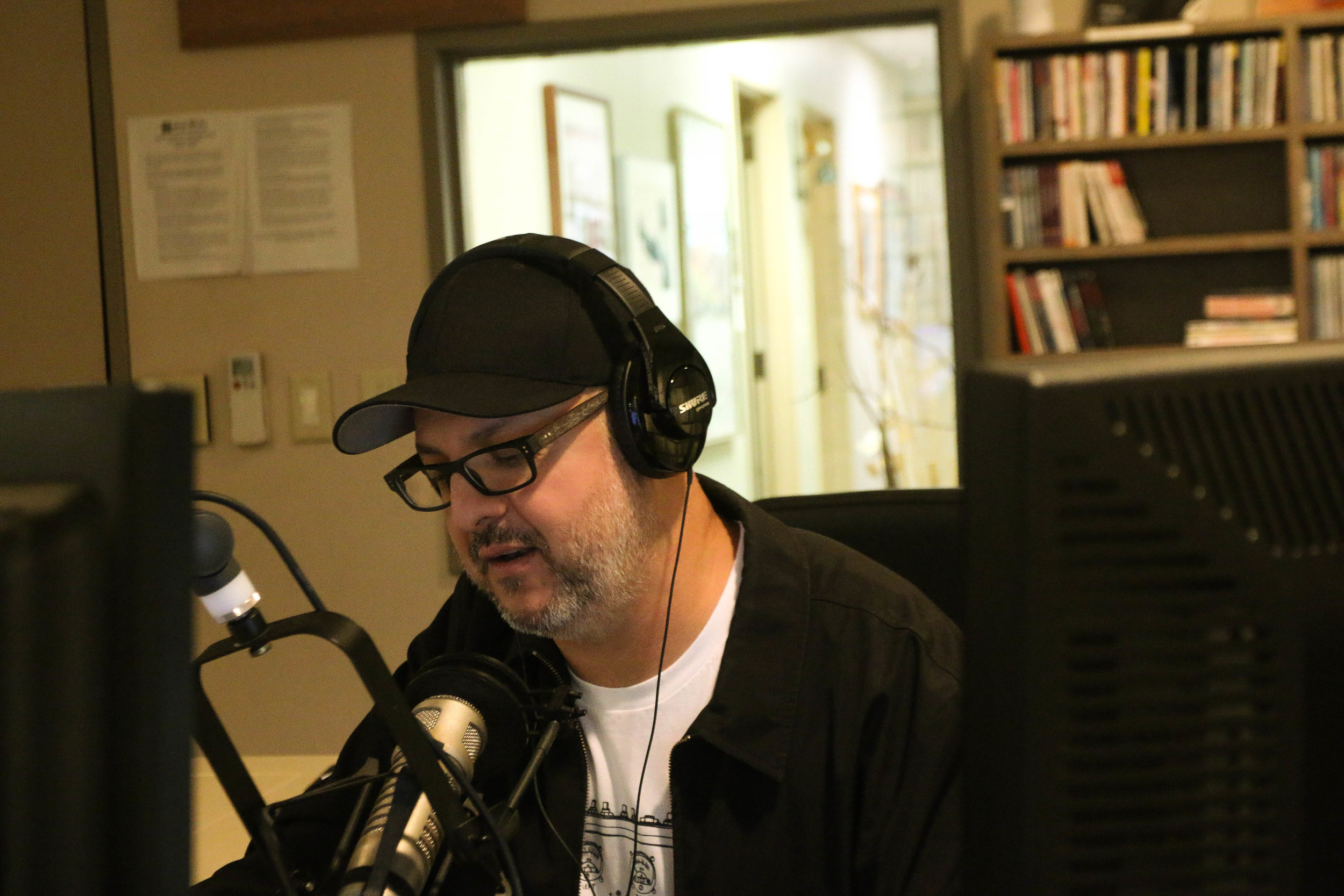 "Leo's been a radio DJ for more than 23 years. He hosts the show ""House Nation"" as DJ Rise every Friday from 10–11 p.m. on KRTU.  Photo by Kathleen Creedon"