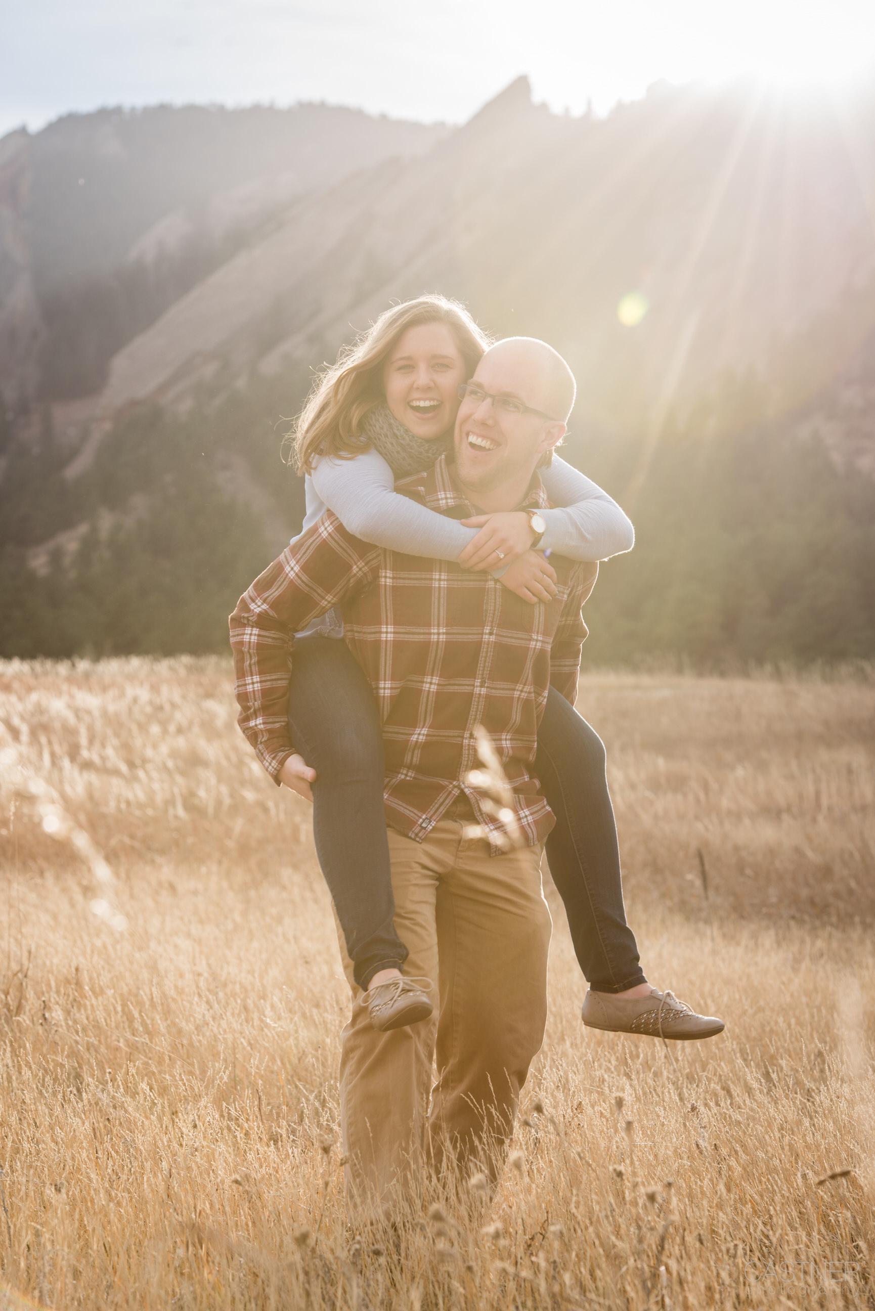 boulder colorado wedding photographers engagement mountain landscape