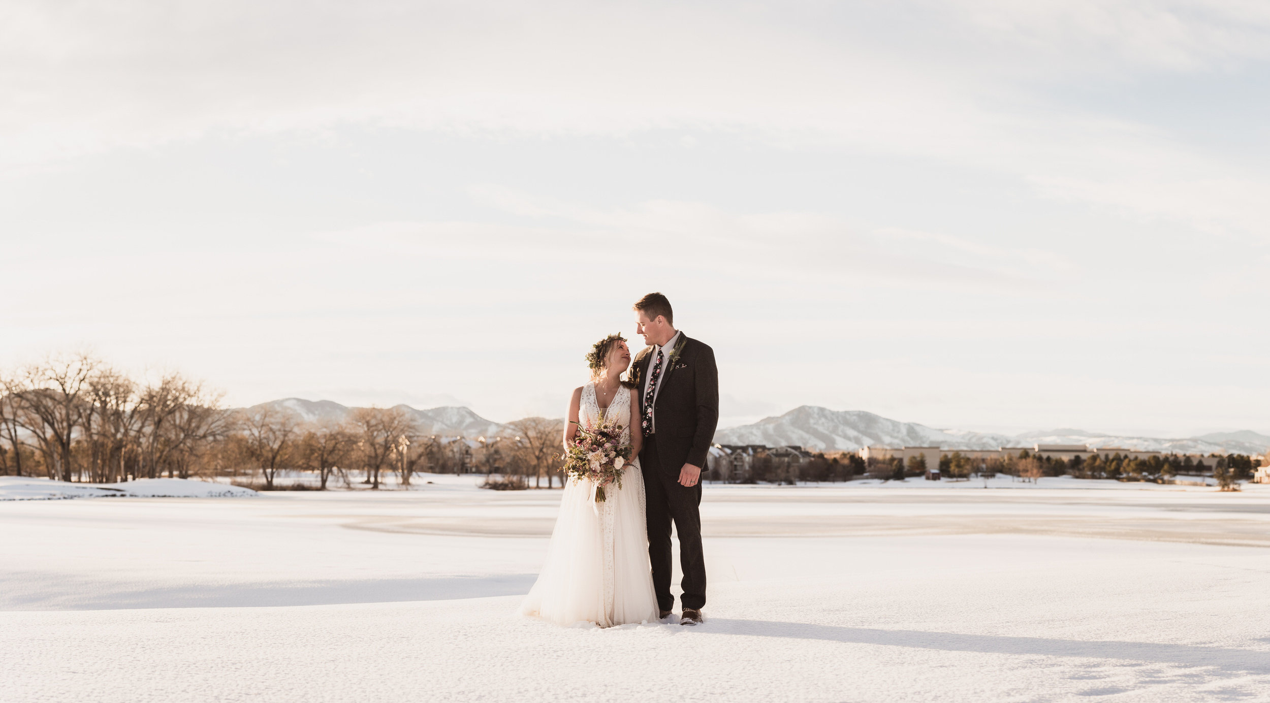 raccoon creek wedding photographers boulder colorado winter