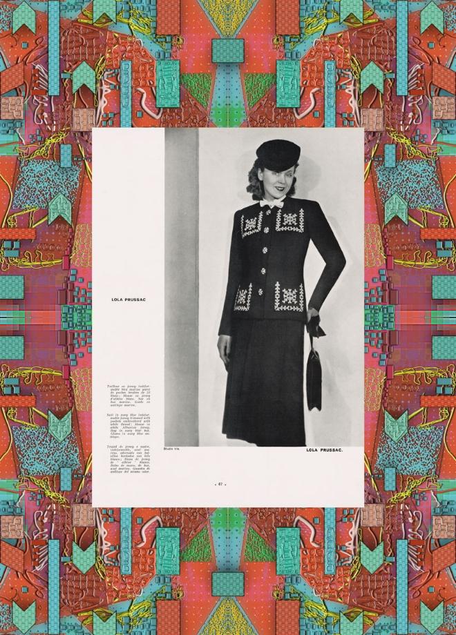 Two-piece black dress. L'ofciel De La Mode n°226, 1940