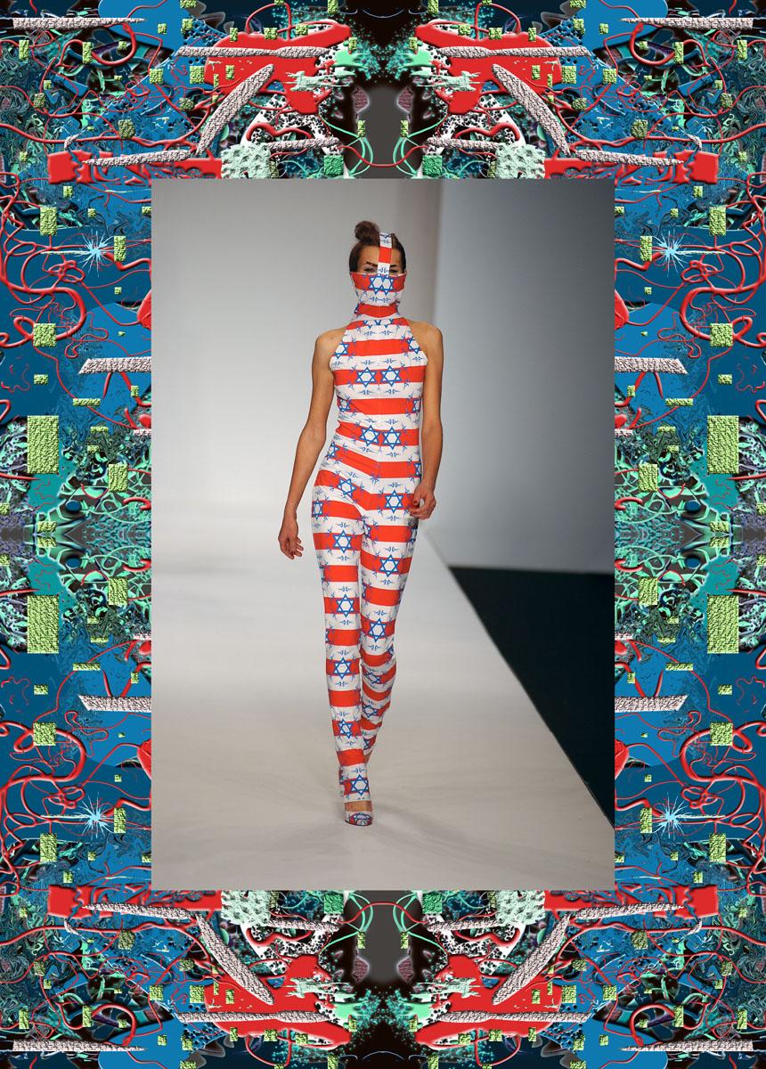 Arkadius United States of Mind collection, s/s 04, London Fashion Week. Photo: Steve Wood, courtesy of Arkadius