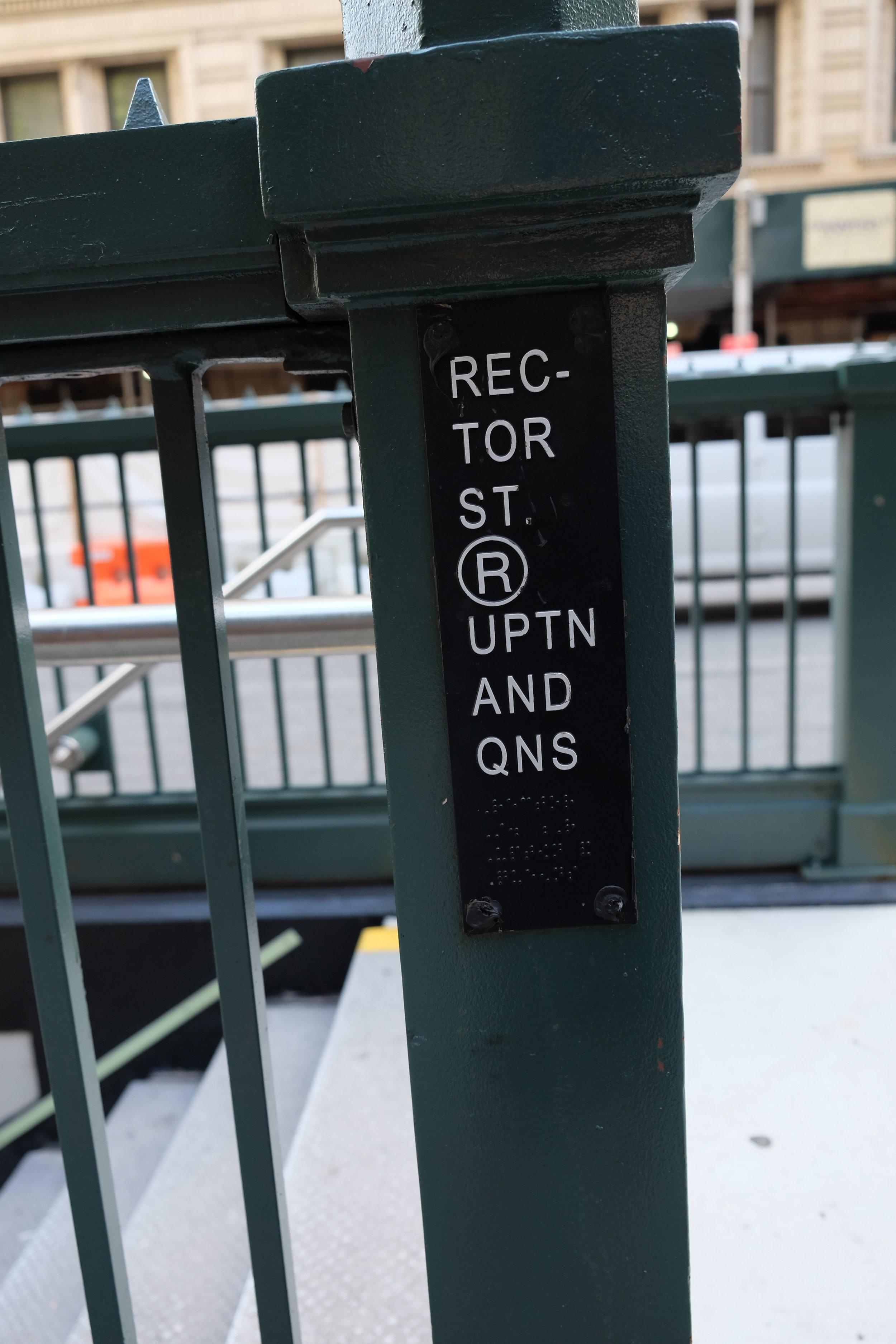 Rector Street Station