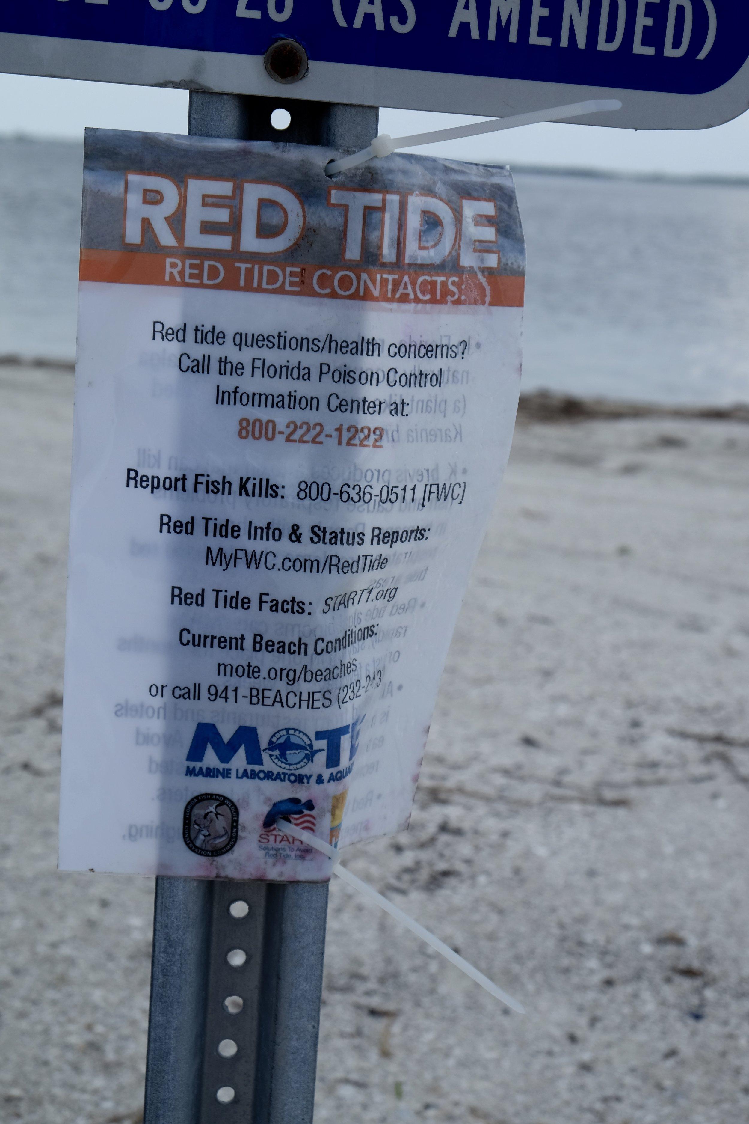 Red Tide Notice: Causeway Island Park