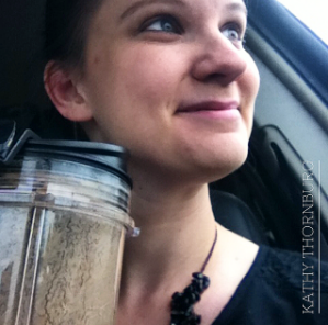 Made it to church with two kids ON TIME. I was able to drink my yummy PlantFusion shake with homemade horchata (tiger nut milk) for an on-the-go breakfast.