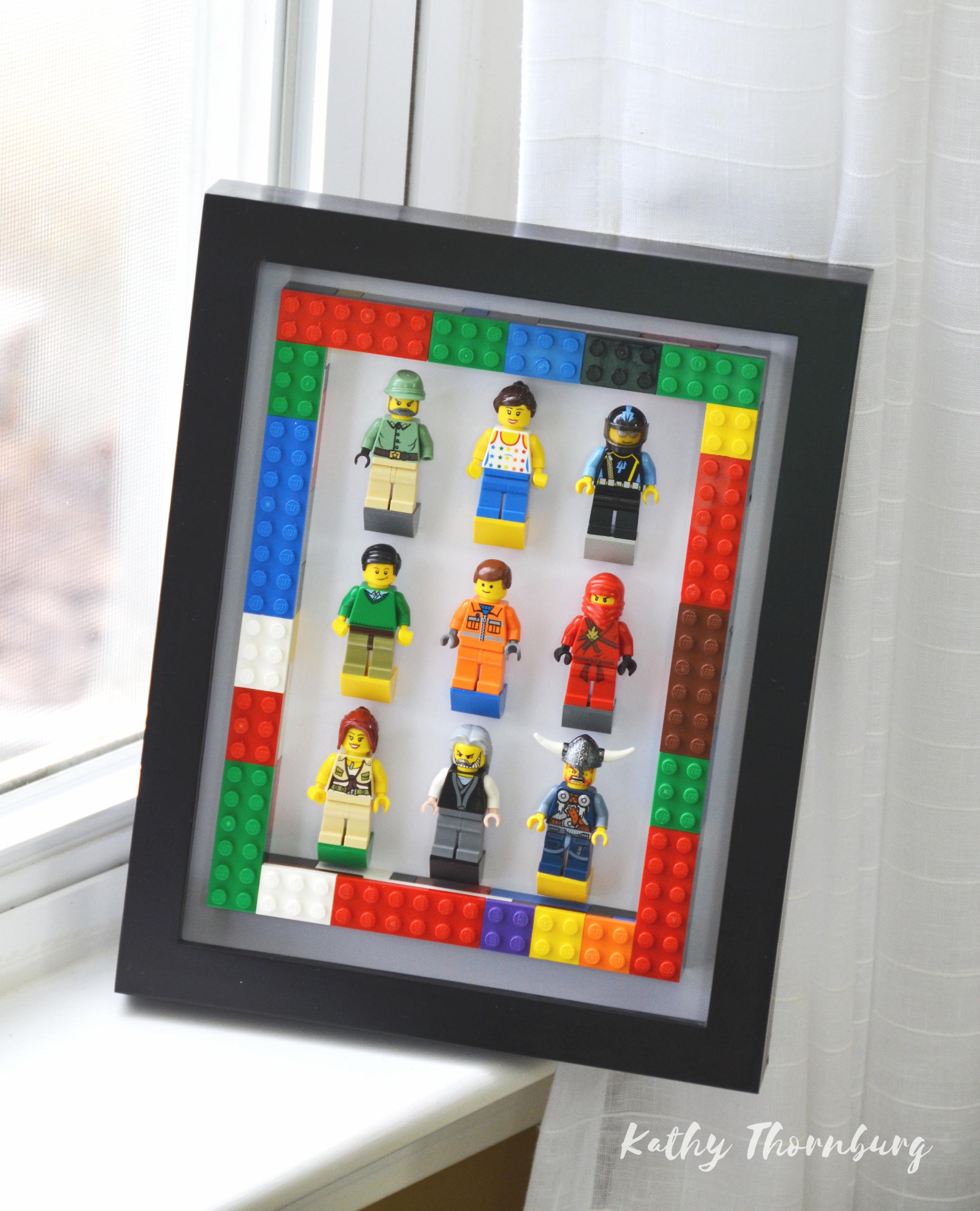 LEGO SHADOW BOX DISPLAY -