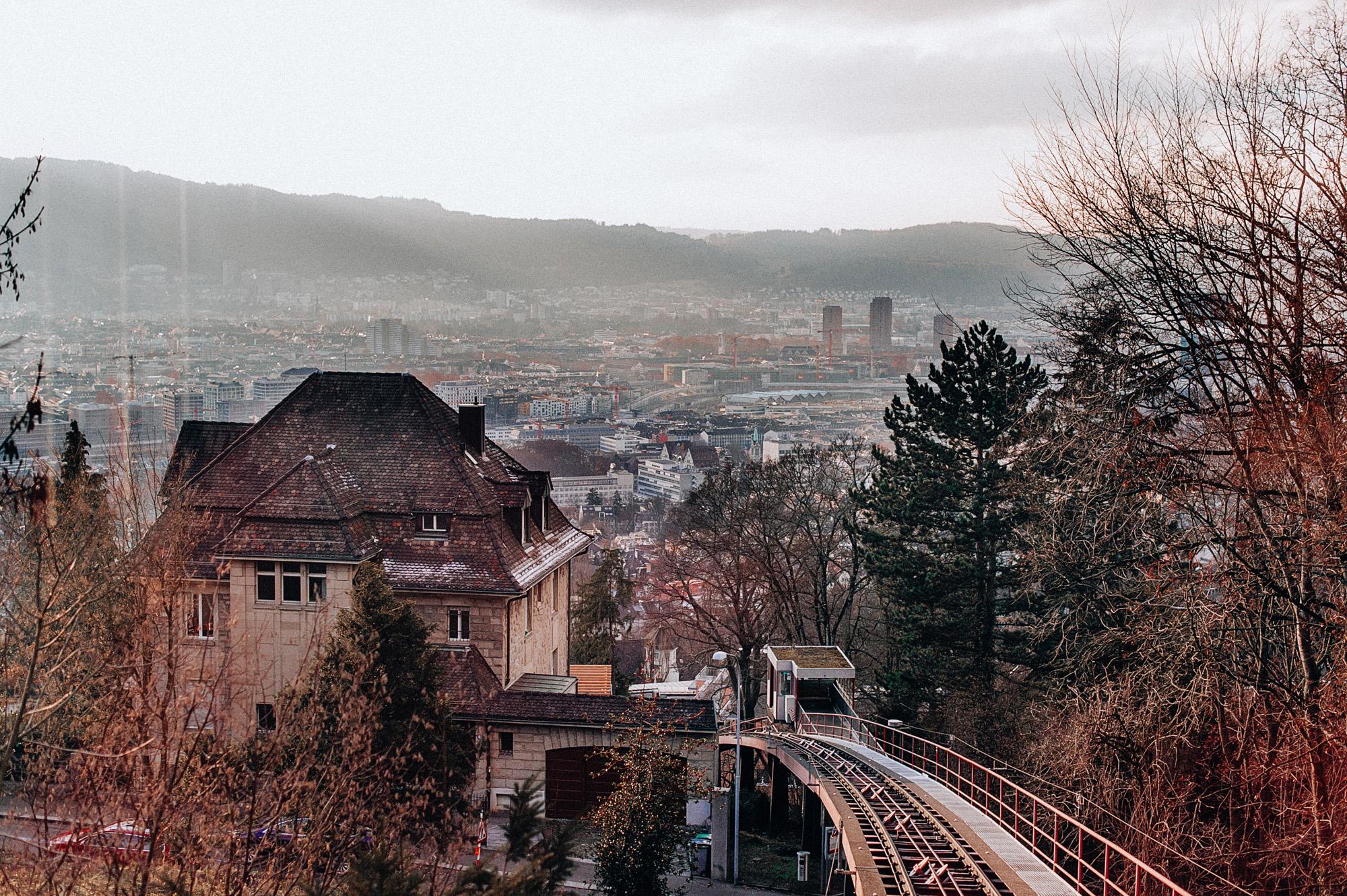 Beautiful view from Zurichberg