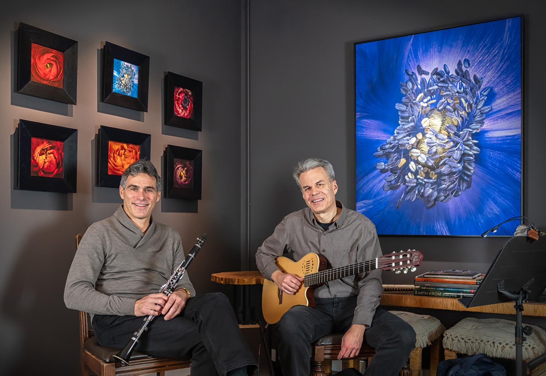 Eric Bressler and Chris Palaskas from Gourmet Jazz