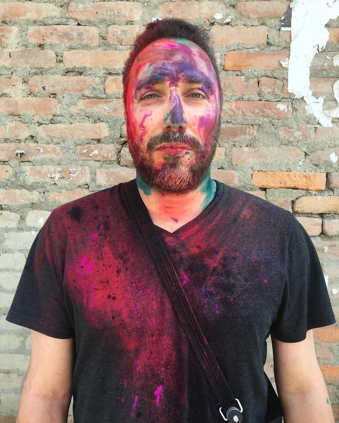 I was the favorite target of every kid within a mile on Holi the festival of colors. This was from the first 30 minutes of walking the streets of Thamal, Kathmandu. So much fun!