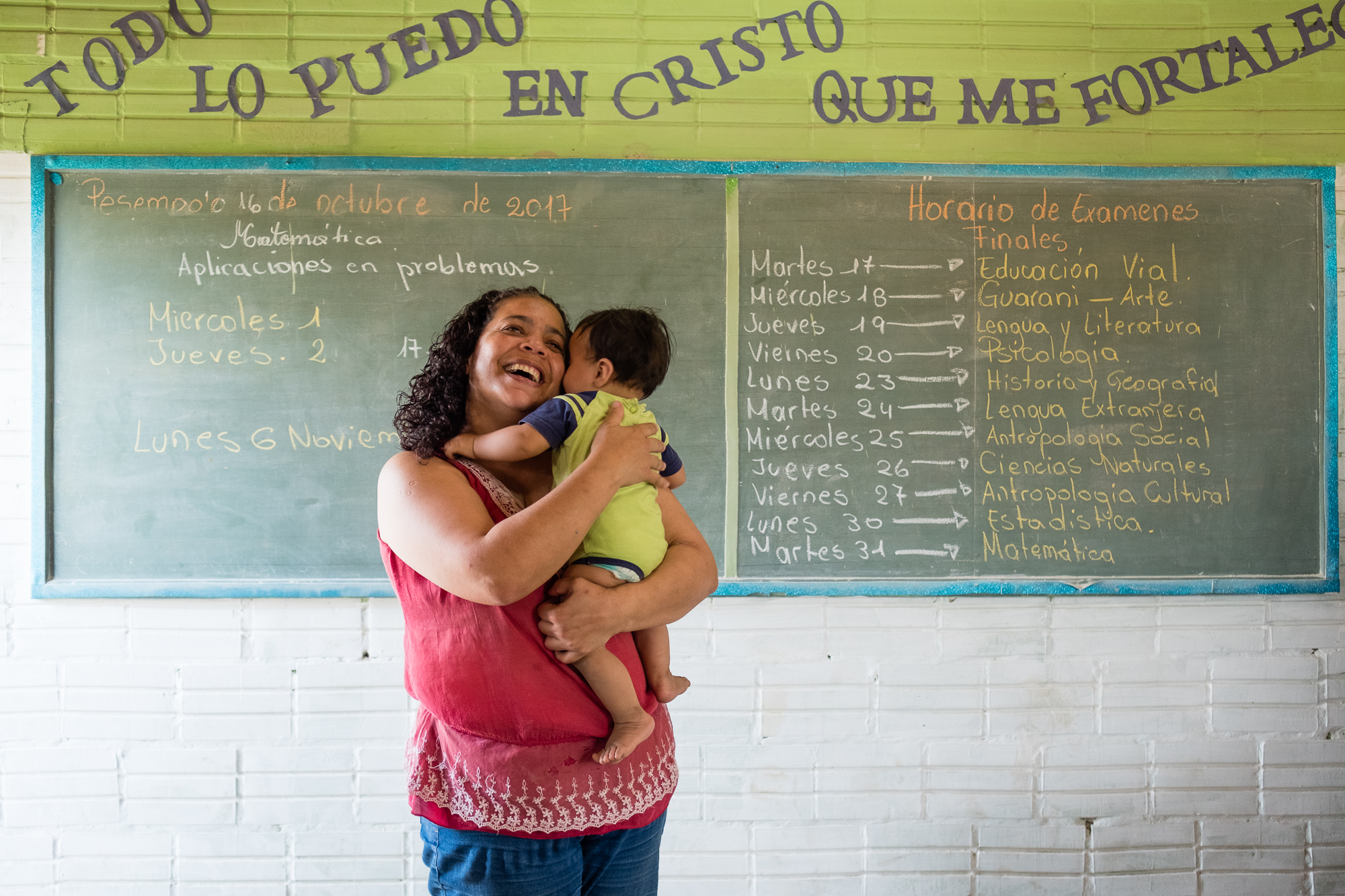 A teacher and her son, El Chaco Paraguay.