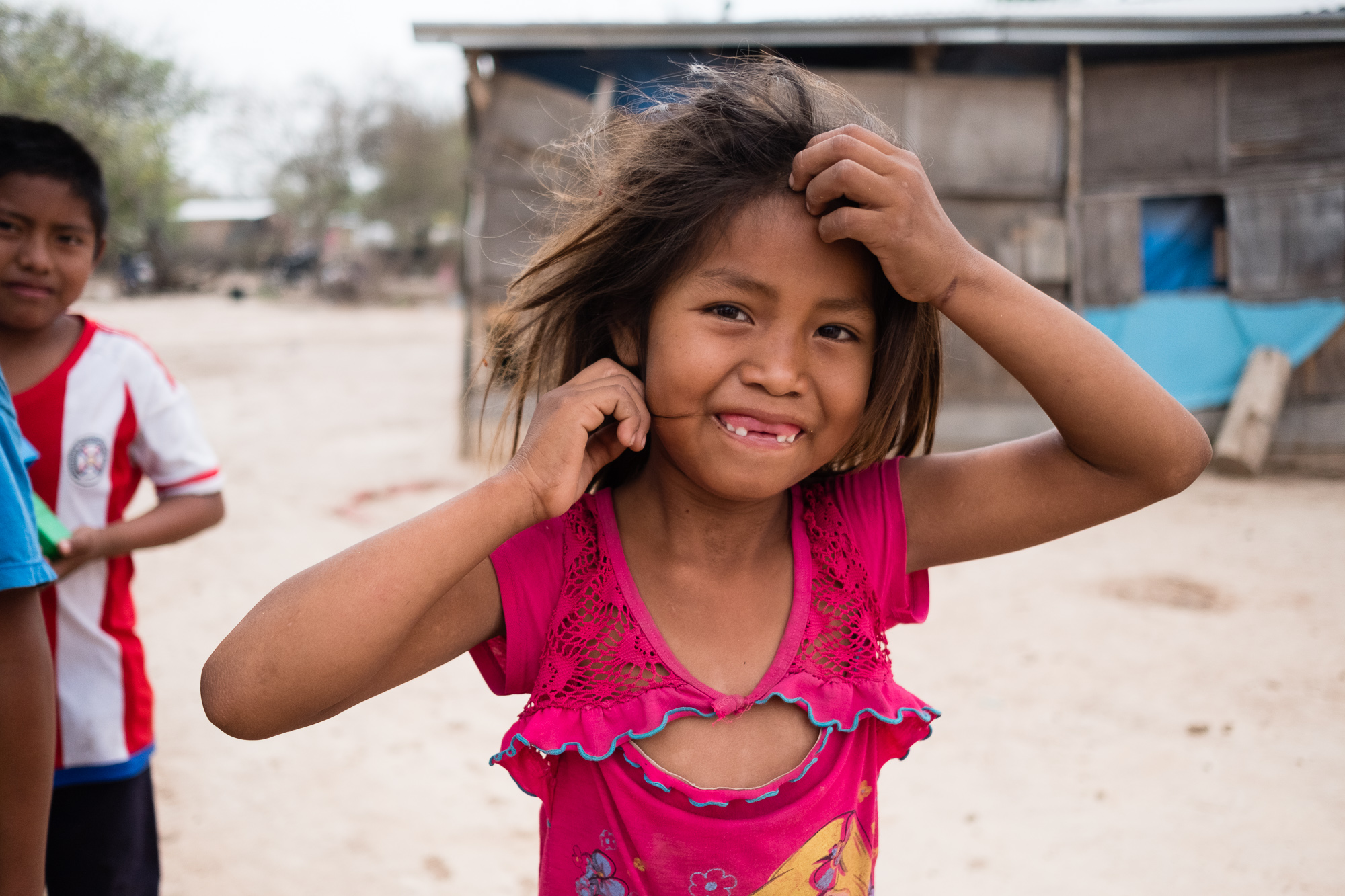 A young girl in the Chaco, Paraguay. Its a tough life in the Chaco.
