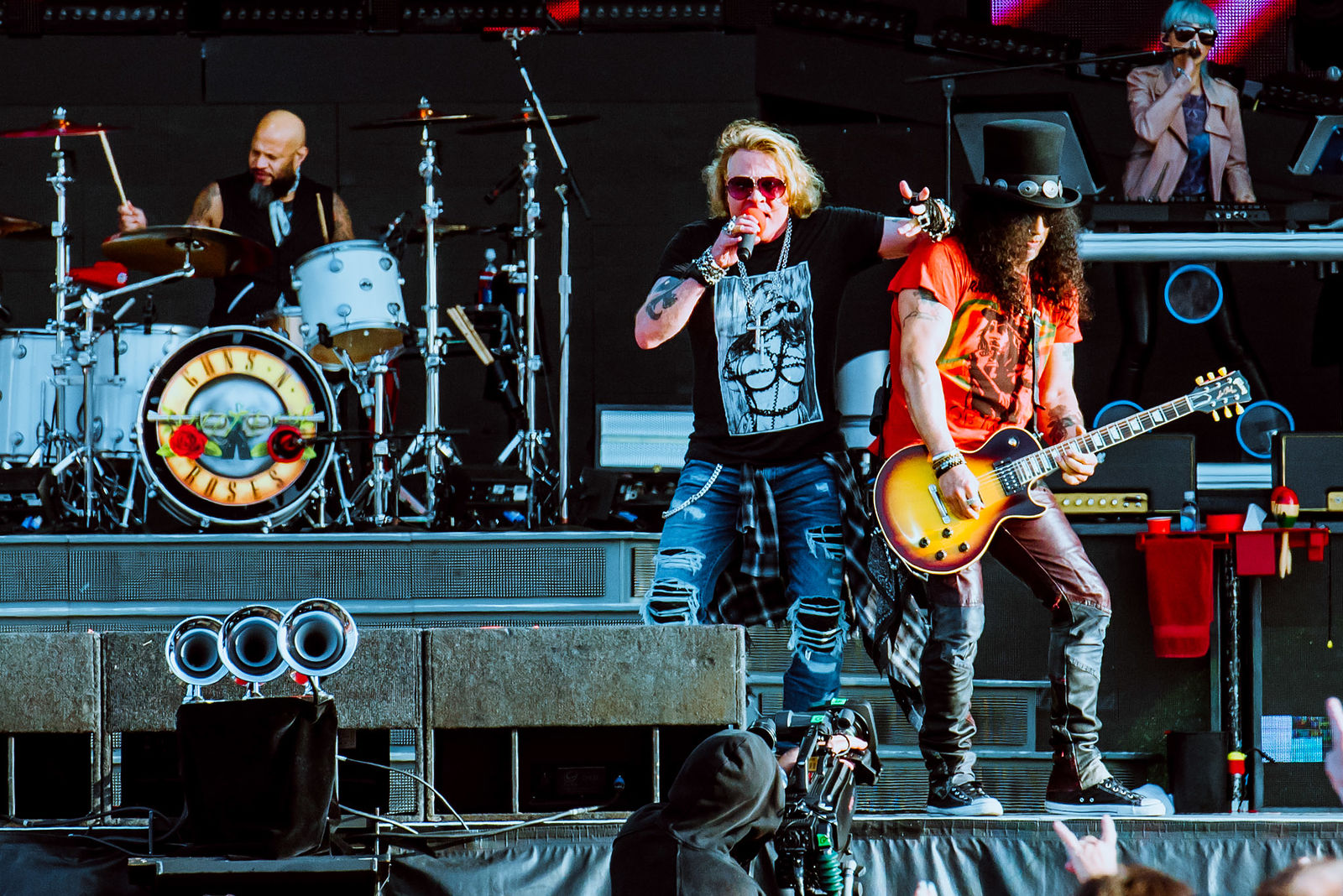Axl and Slash at Download Festival 2018.