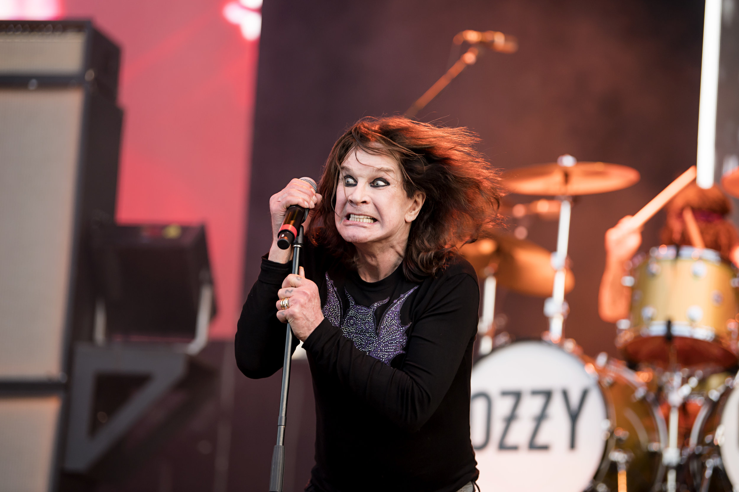 Ozzy was in fine voice. Pic By Ross Halfin.