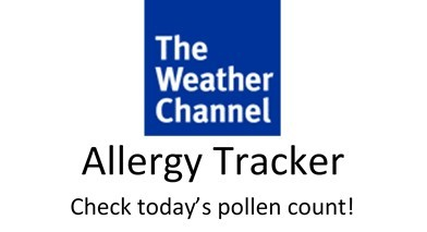 Check today's pollen count