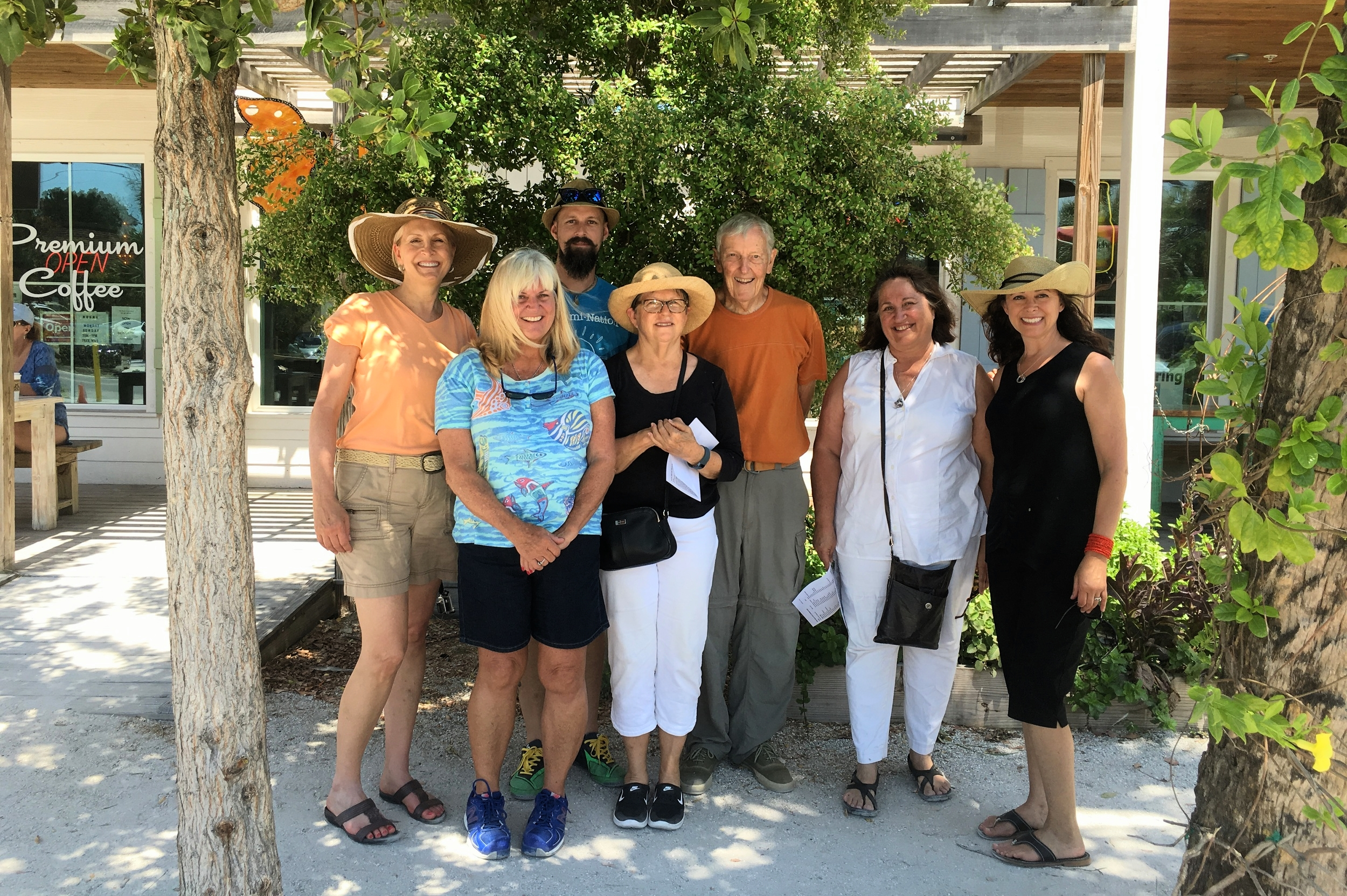 Leading a tour of the Greenest Little Main Street in America - Anna Maria