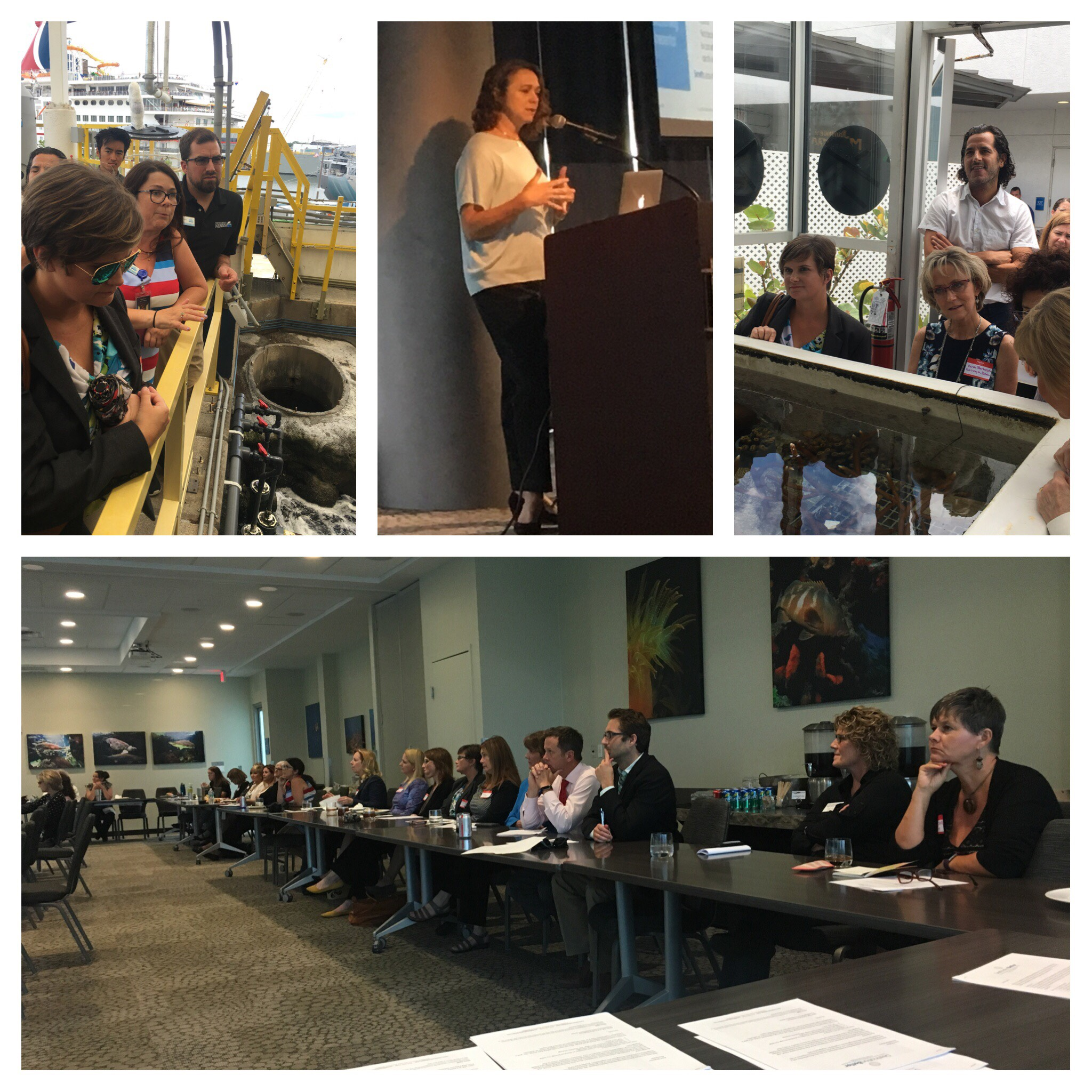 May 21, 2018 - before going on a behind-the-scenes tour at the Florida Aquarium, Destination better's founding partner,   Janet    craig,  educated attendees about the SEC-aligned, industry-specific, financially material environmental and social impacts of each organization...because investors are asking.