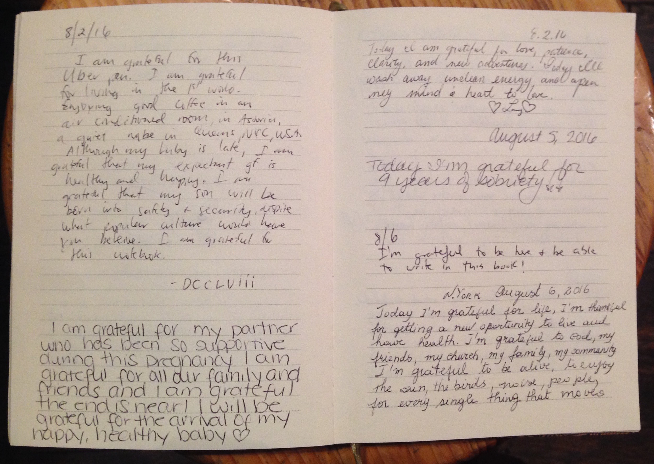 """""""I'm grateful to be here and be able to write in this book!"""""""