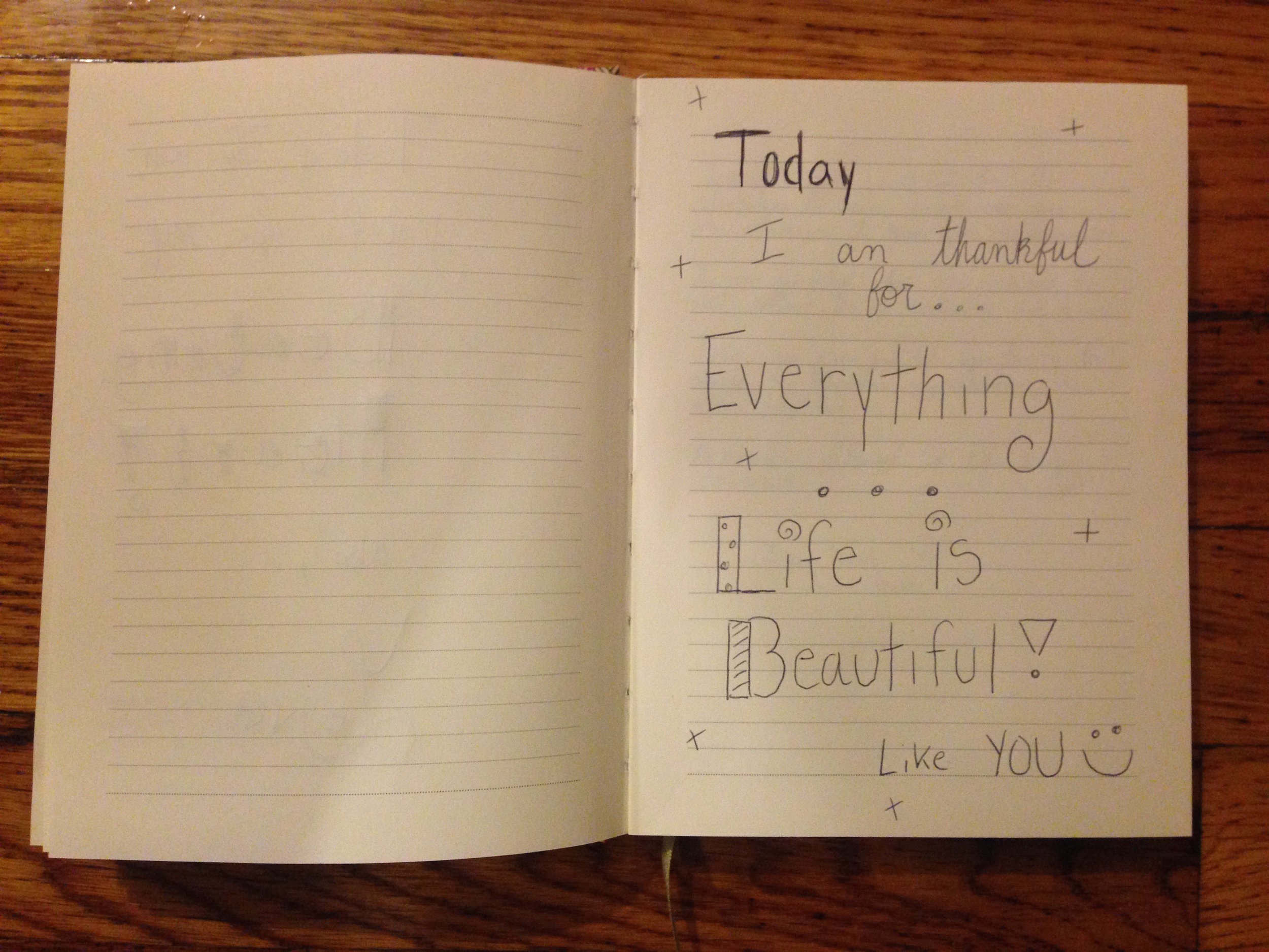 """""""Today I am grateful for everything...Life is beautiful! Like you:)"""""""