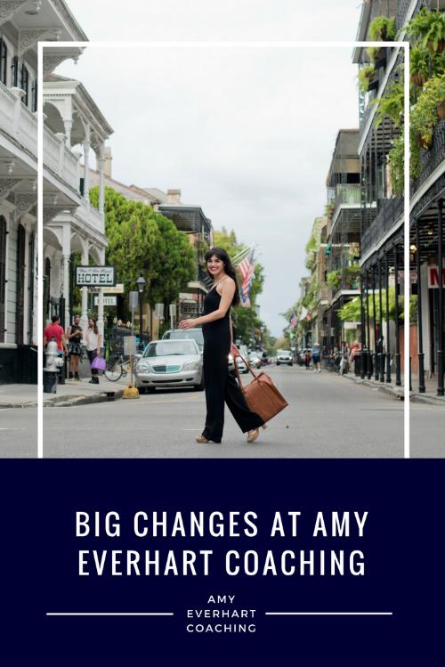Big Changes at Amy E Coaching