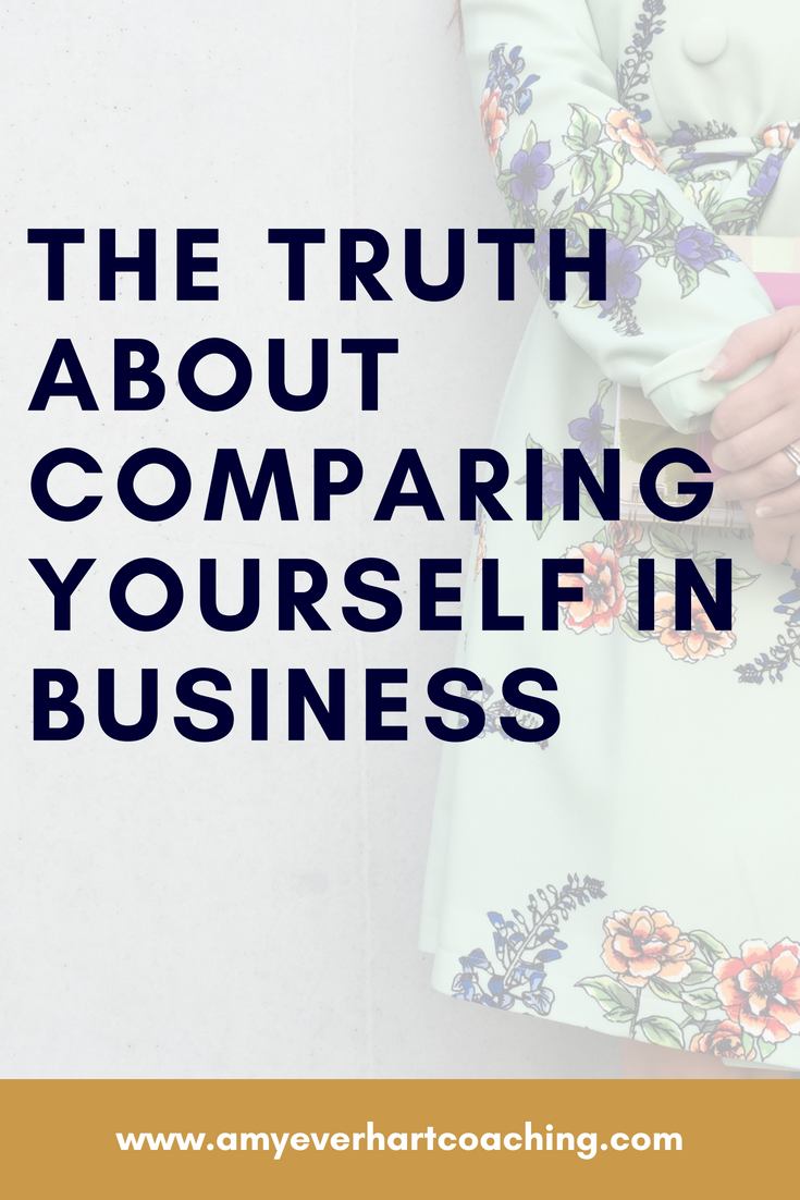 "I don't know a single person, myself included, who hasn't had the experience of scrolling through social media and wondering, ""Am I…behind? Who are these shiny, happy people, and why am I such a hot mess?""  Recently, in the span of about 24 hours, I learned the truth about comparing yourself in business...and what I needed to shift if I ever wanted to feel confident. Lucky for you, I've broken down into a few steps. You're welcome."