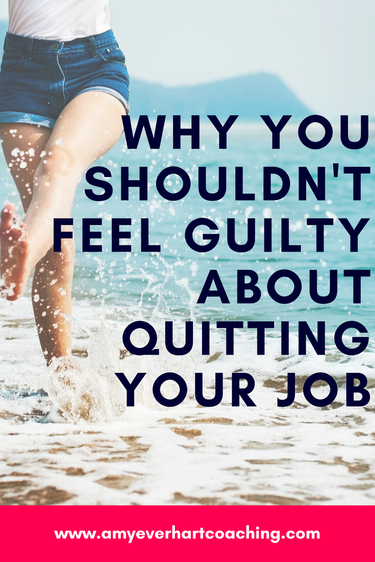 Feel guilty about leaving your day job to pursue your dreams?  Don't. Here's what's really going on and how to fix it.  HERE'S THE DIRTY SECRET ABOUT GUILT... Guilt is just the completely normal byproduct of conflicting values. When your values fight each other, it doesn't feel good.