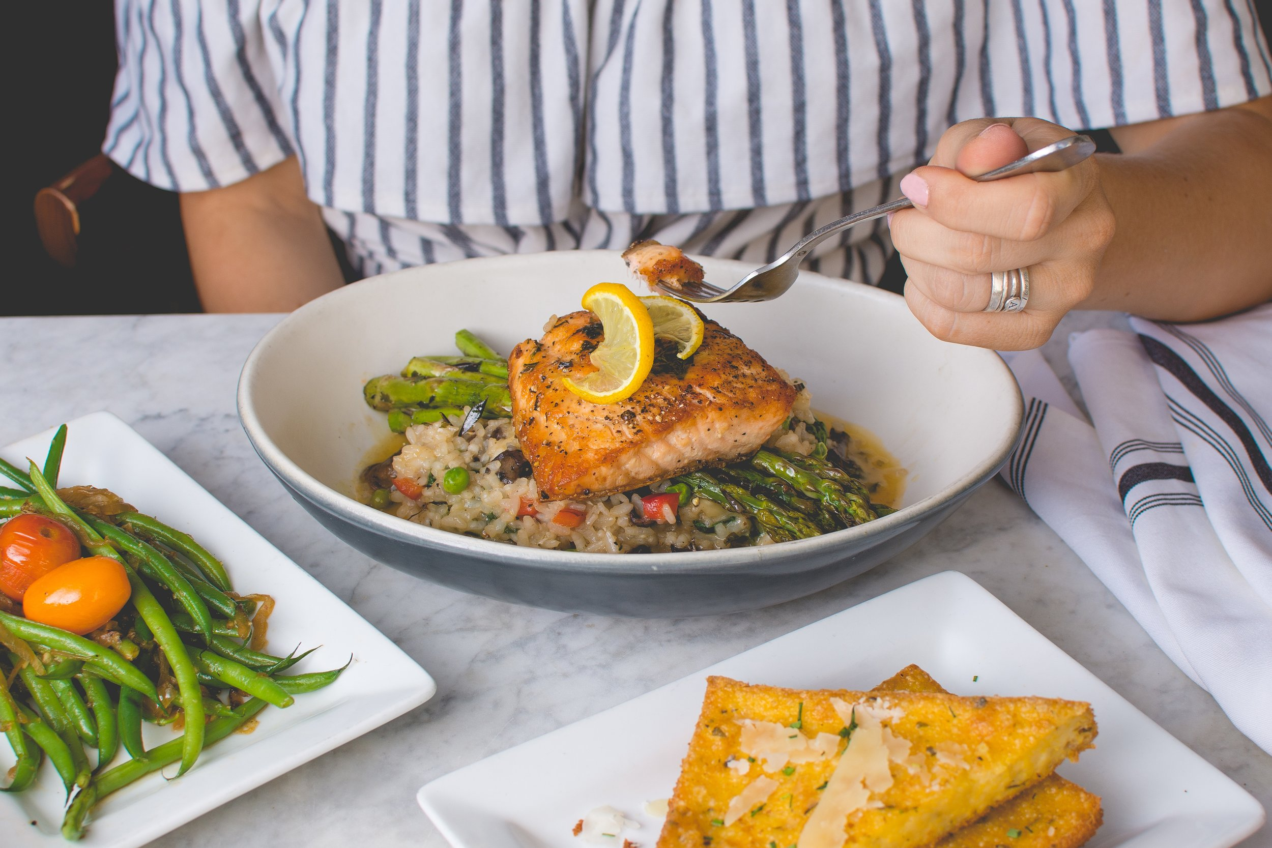 Omega-3s can be found in salmon and can help lower blood sugar. Photo by  Travis Yewell  on  Unsplash