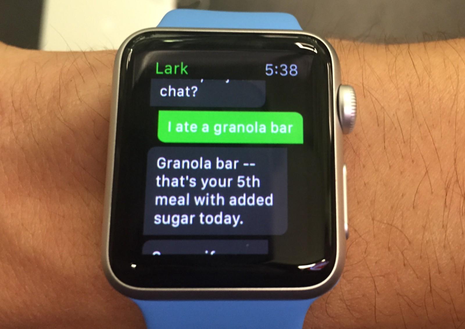 Lark Apple Watch food