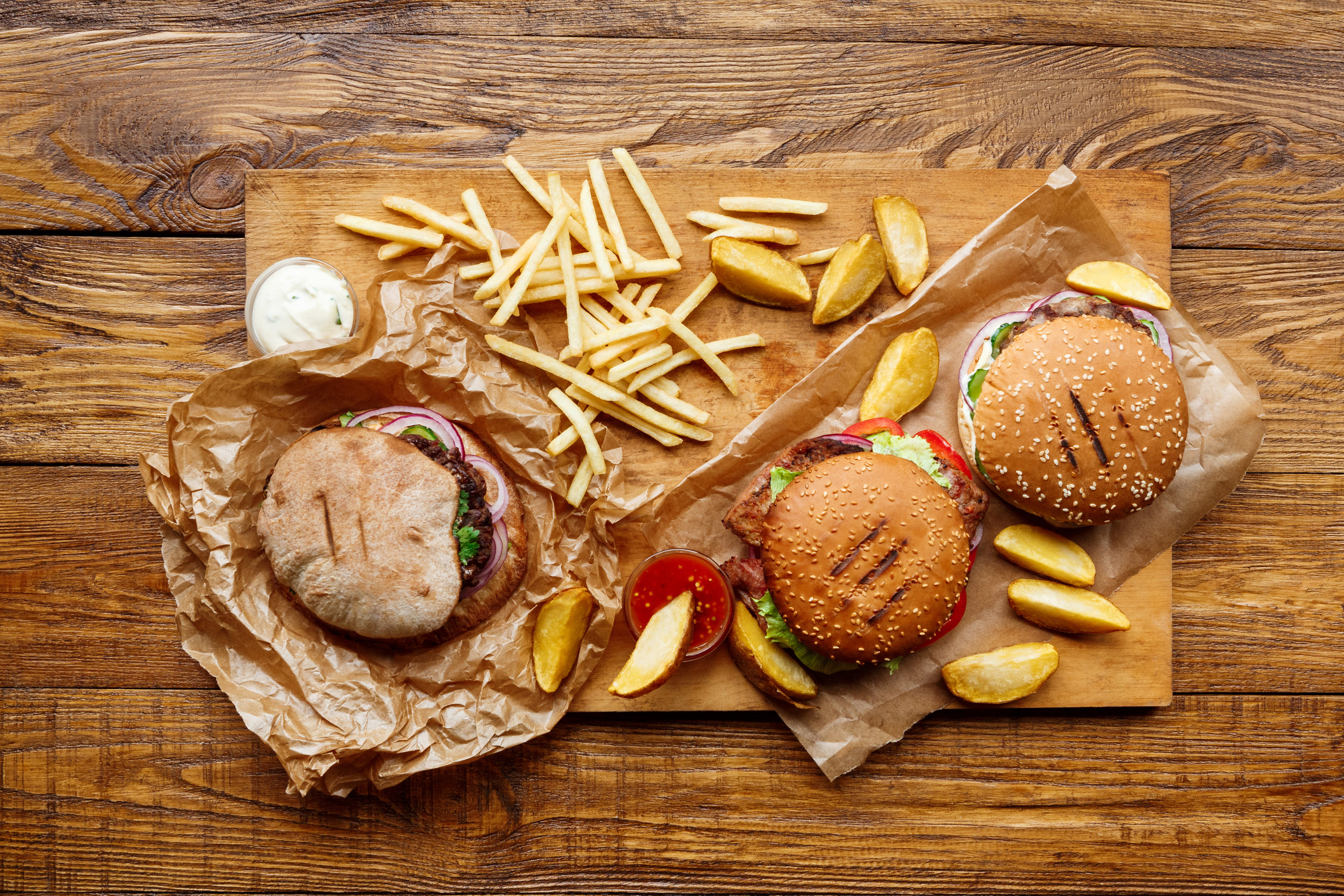 Beware of burgers: one burger can have over 1,000 calories