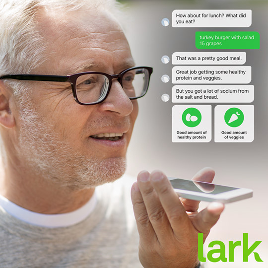 Lark has voice over to control your high blood pressure