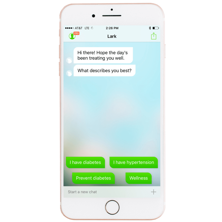 Lark app communicating with a user.