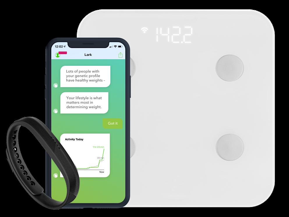 Lark can provide a blood pressure cuff, glucose reader and a comprehensive A.I. health coach app.