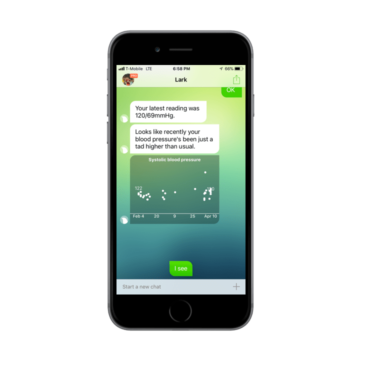1-on-1 personal care via the Lark app.